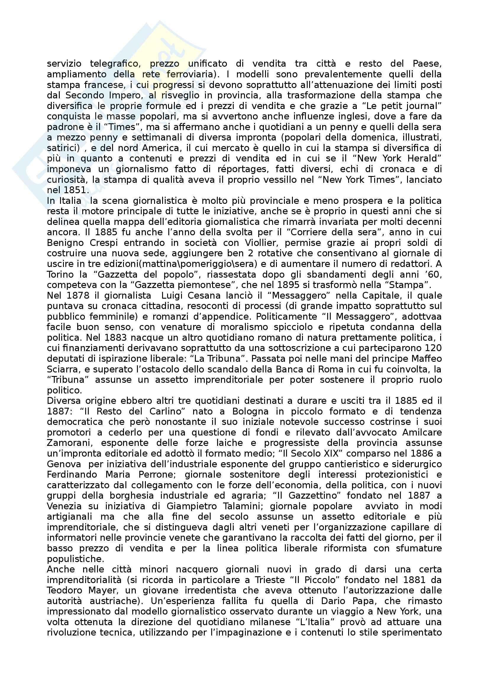Riassunto esame Storia dei Media e del Giornalismo, prof. Forno, libro consigliato Storia del Giornalismo Italiano, Murialdi Pag. 16