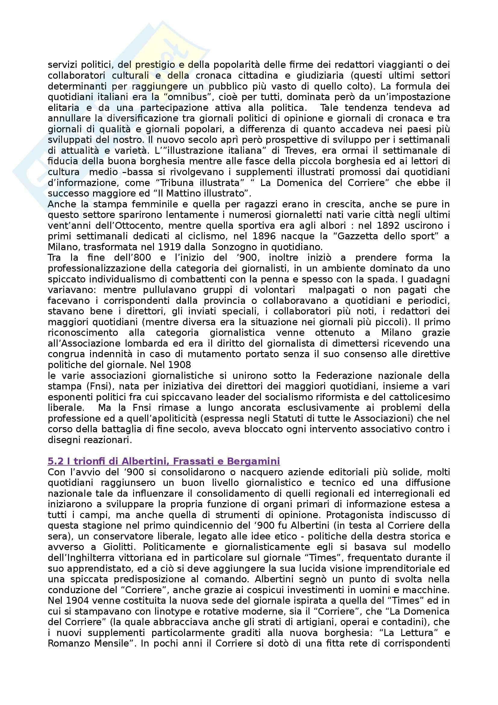 Riassunto esame Storia dei Media e del Giornalismo, prof. Forno, libro consigliato Storia del Giornalismo Italiano, Murialdi Pag. 21
