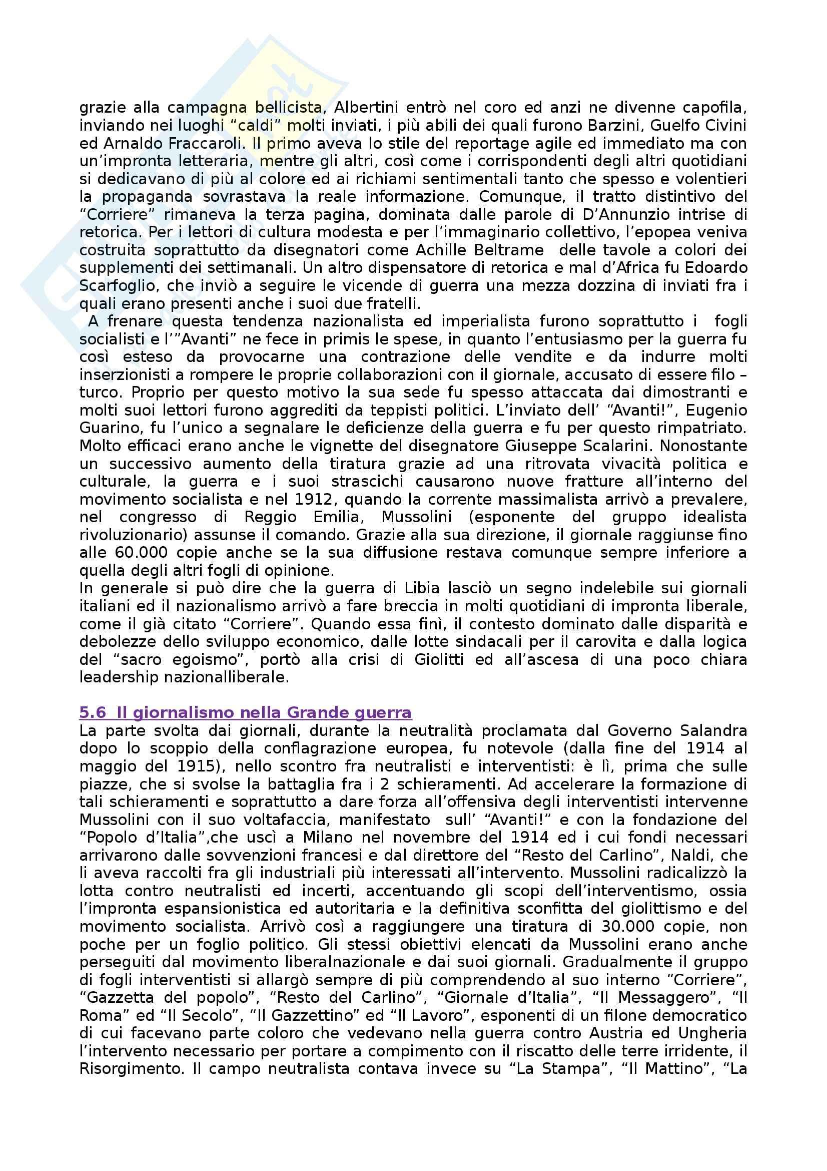 Riassunto esame Storia dei Media e del Giornalismo, prof. Forno, libro consigliato Storia del Giornalismo Italiano, Murialdi Pag. 26