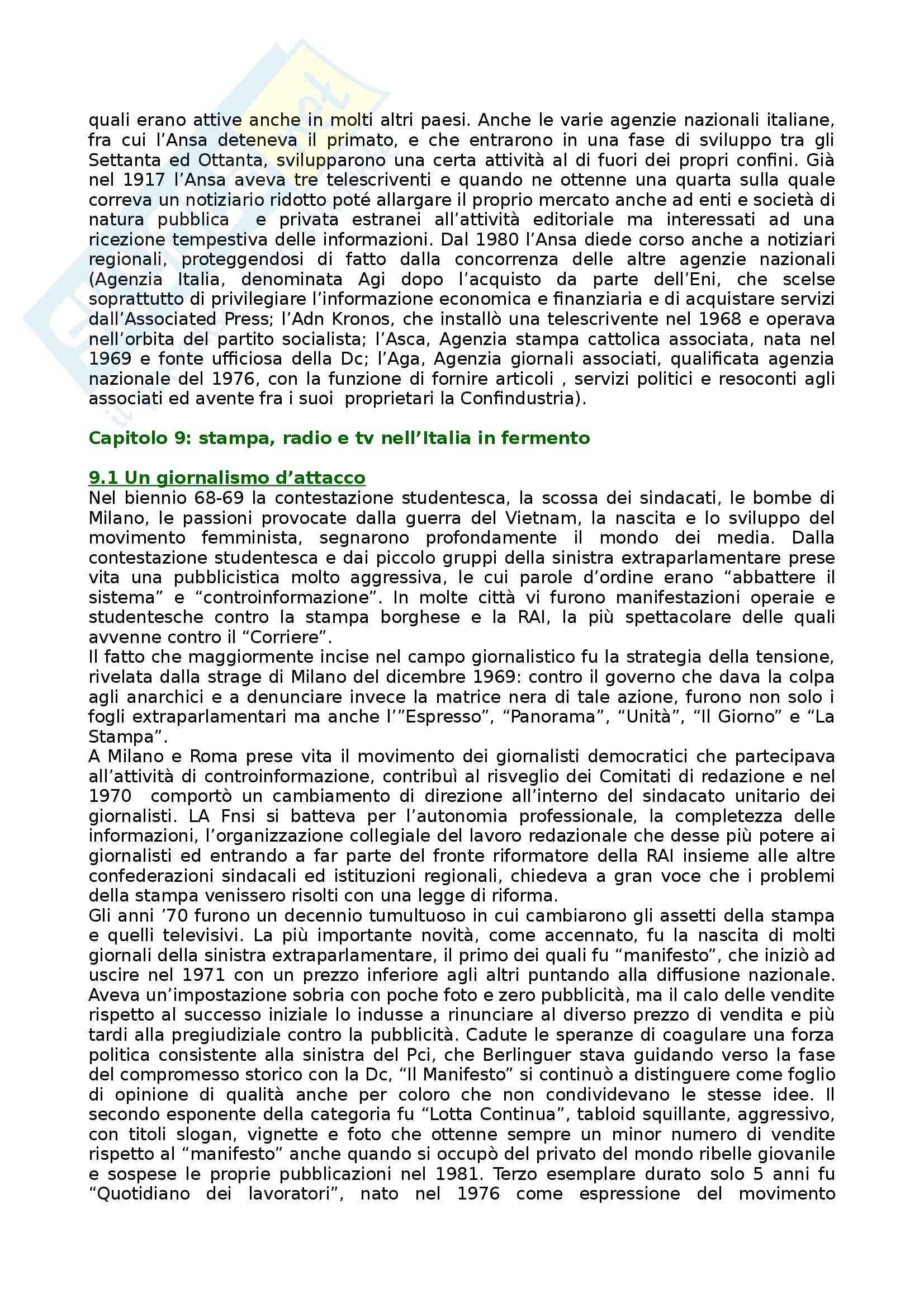 Riassunto esame Storia dei Media e del Giornalismo, prof. Forno, libro consigliato Storia del Giornalismo Italiano, Murialdi Pag. 56