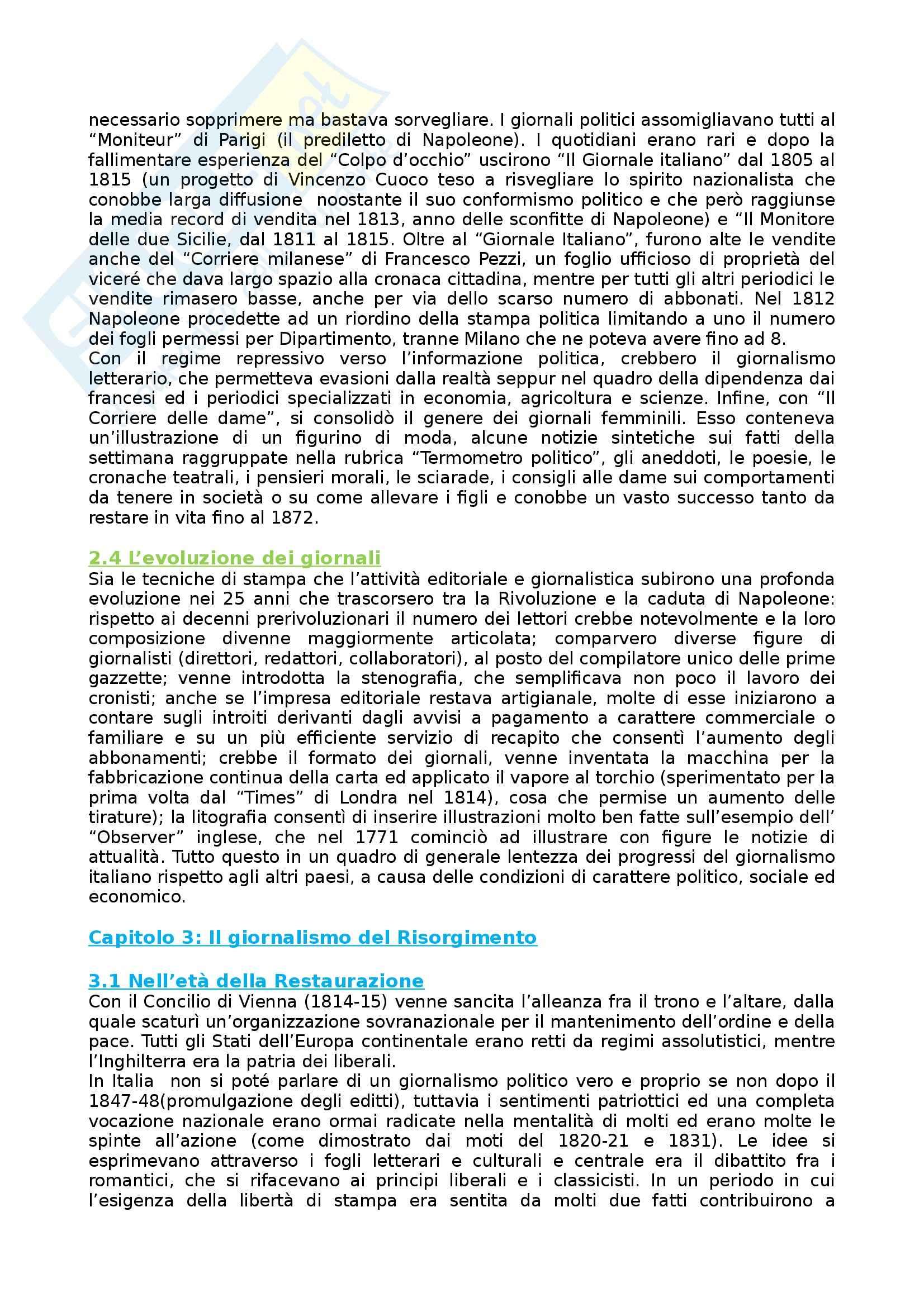 Riassunto esame Storia dei Media e del Giornalismo, prof. Forno, libro consigliato Storia del Giornalismo Italiano, Murialdi Pag. 6