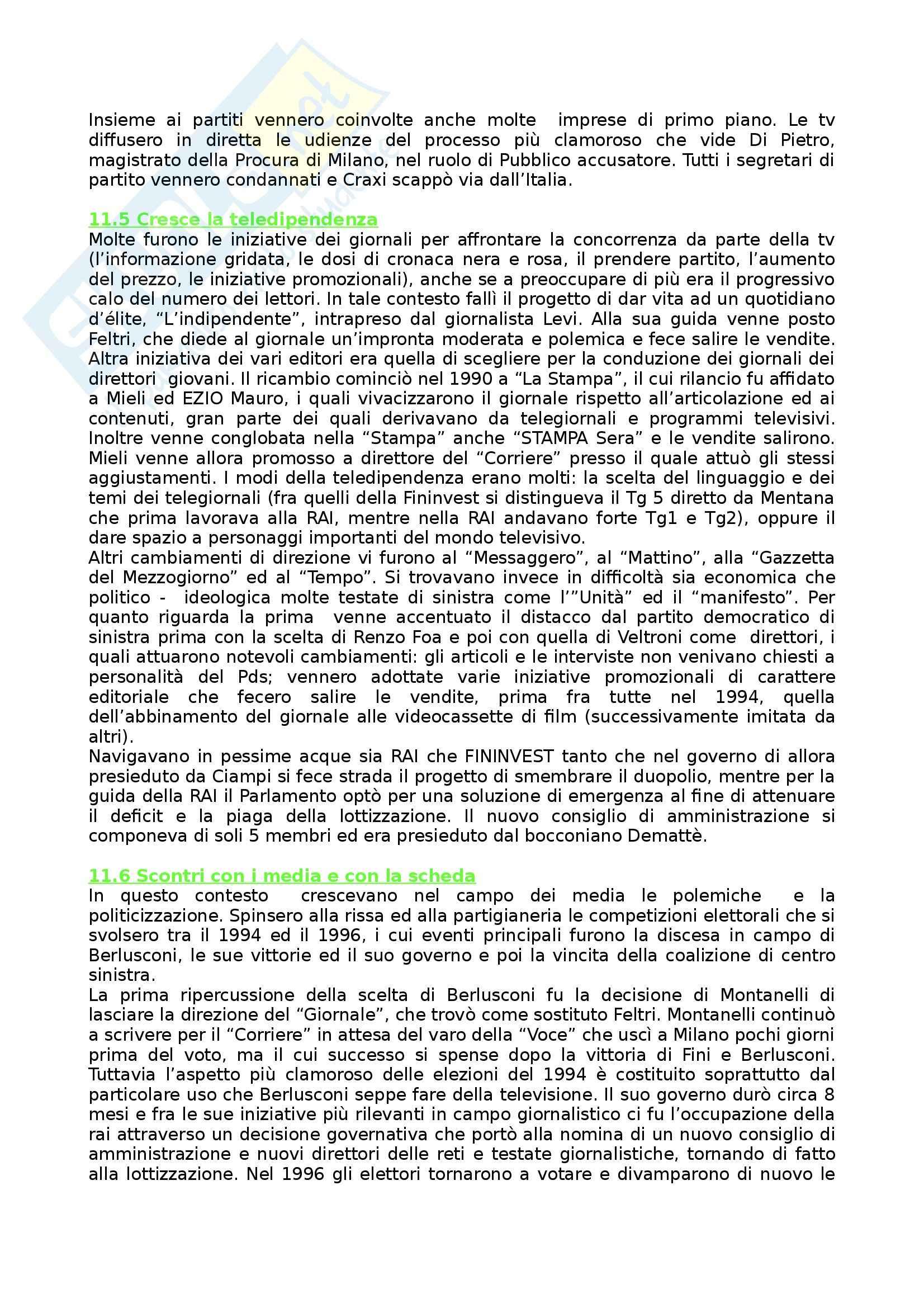 Riassunto esame Storia dei Media e del Giornalismo, prof. Forno, libro consigliato Storia del Giornalismo Italiano, Murialdi Pag. 71