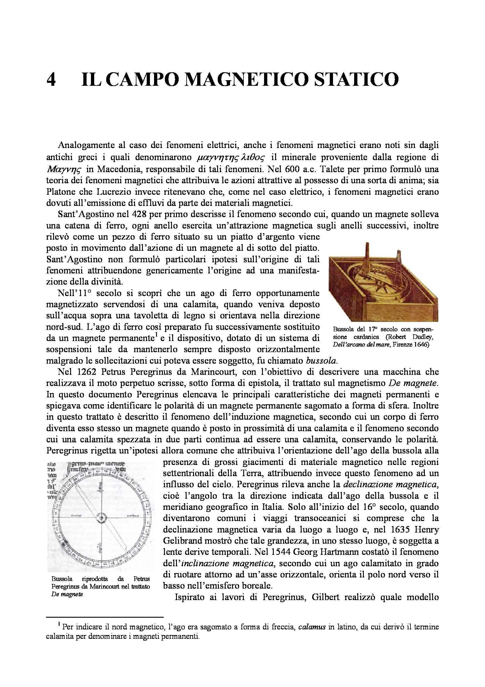 Dispensa di Fisica - Il campo magnetico statico