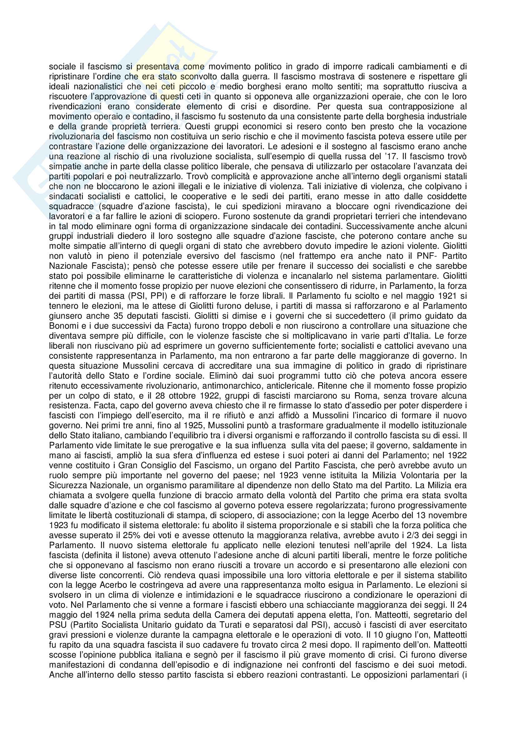 Riassunto esame Storia contemporanea, prof. Gentiloni, libro consigliato Storia Contemporanea Il Novecento, Sabbatucci, Vidotto Pag. 6