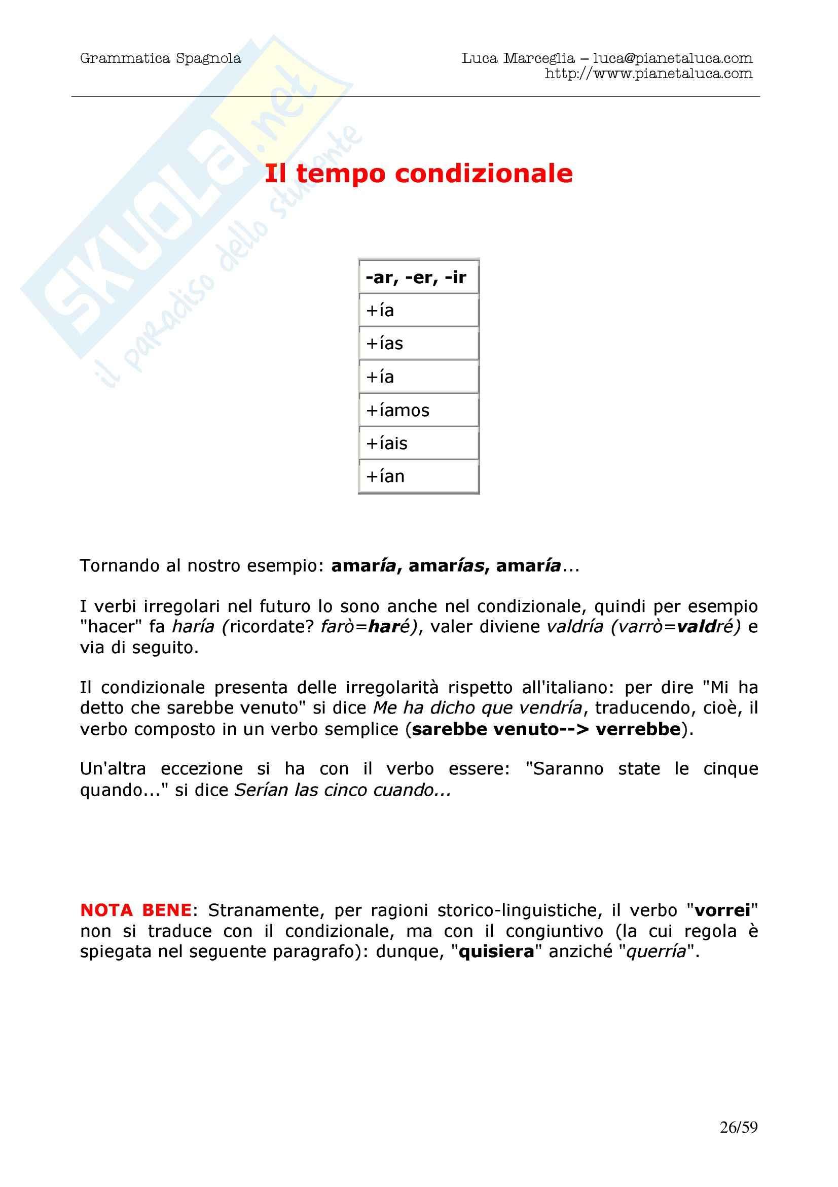 Grammatica spagnola Pag. 26