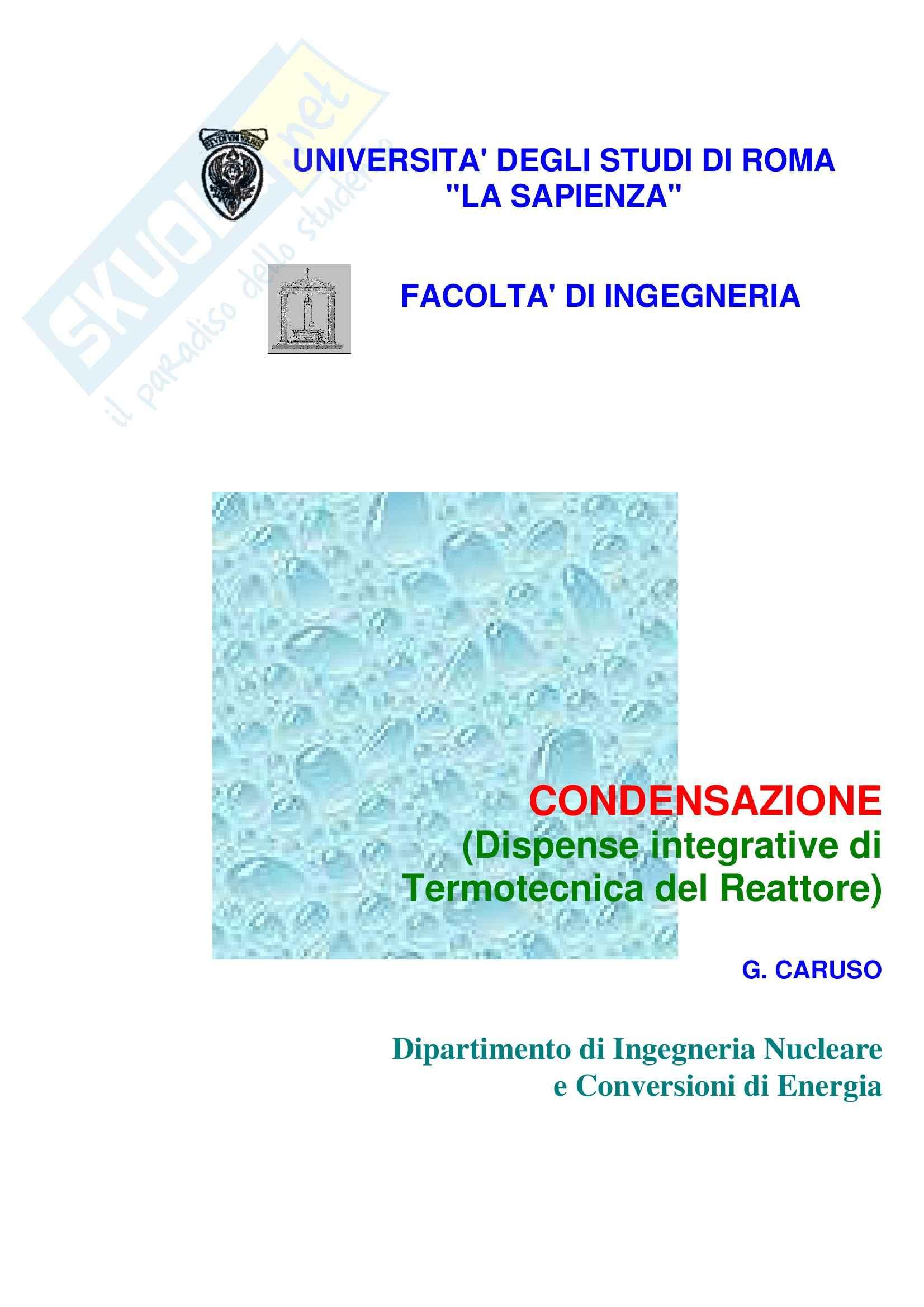 appunto G. Caruso Termotecnica del Reattore