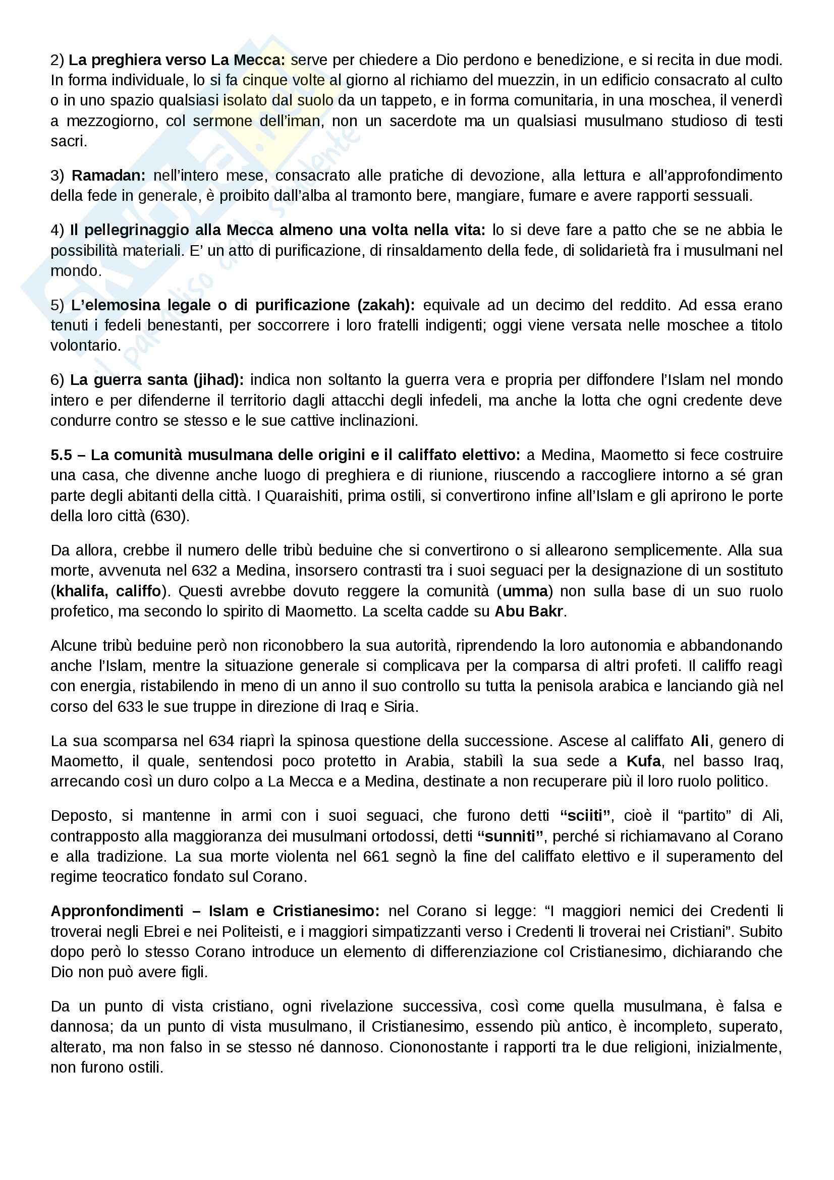 Riassunto esame Storia medievale, prof. Salvaneschi, libro consigliato Medioevo I caratteri originali di un'età di transizione di Vitolo Pag. 11