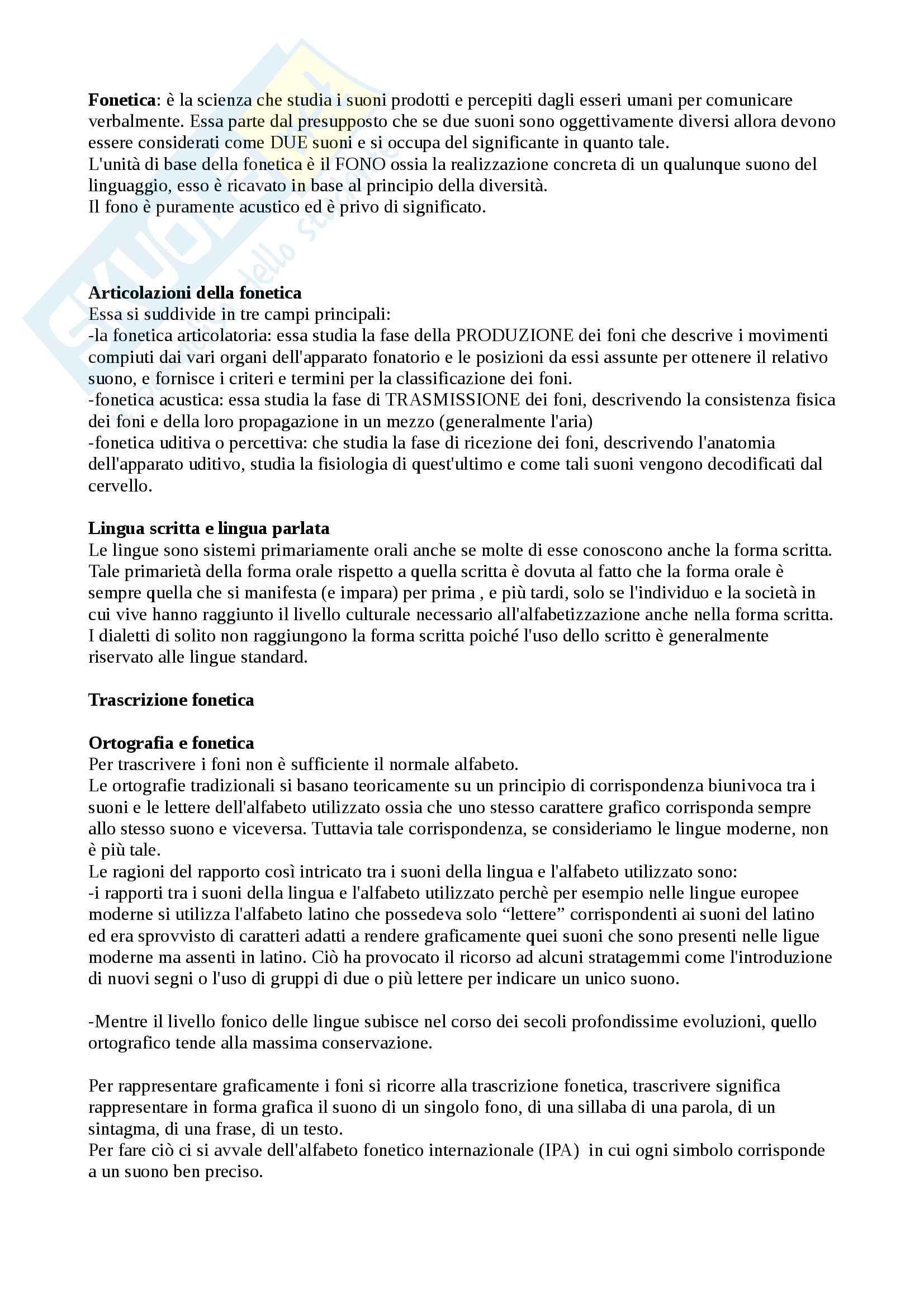 """Riassunto di fonetica e fonologia, esame di linguistica generale, libro consigliato """"I suoni delle lingue I suoni dell'italiano"""" di P. Maturi"""
