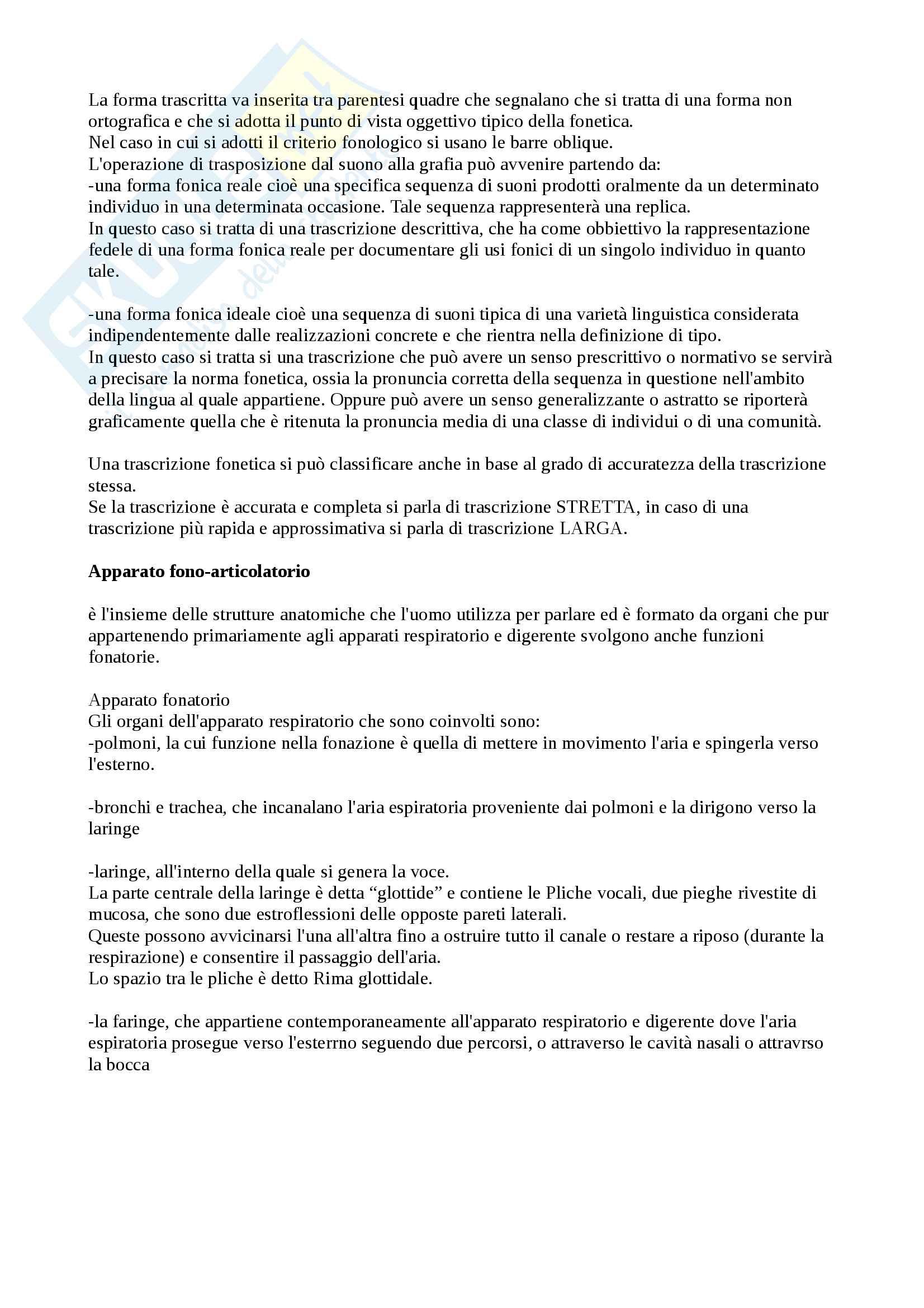 """Riassunto di fonetica e fonologia, esame di linguistica generale, libro consigliato """"I suoni delle lingue I suoni dell'italiano"""" di P. Maturi Pag. 2"""