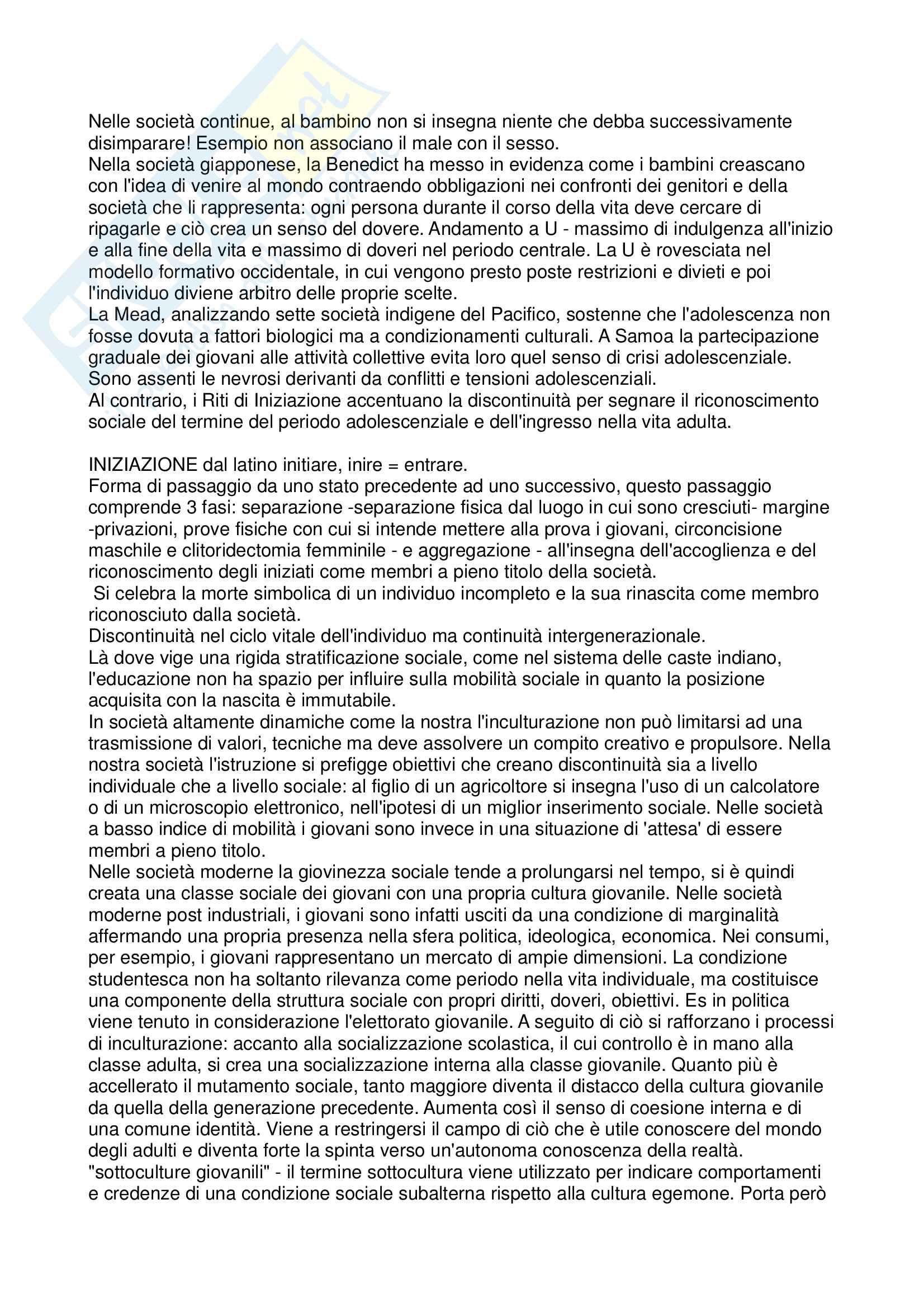 Inculturazione e processi educativi - Antropologia Pag. 2