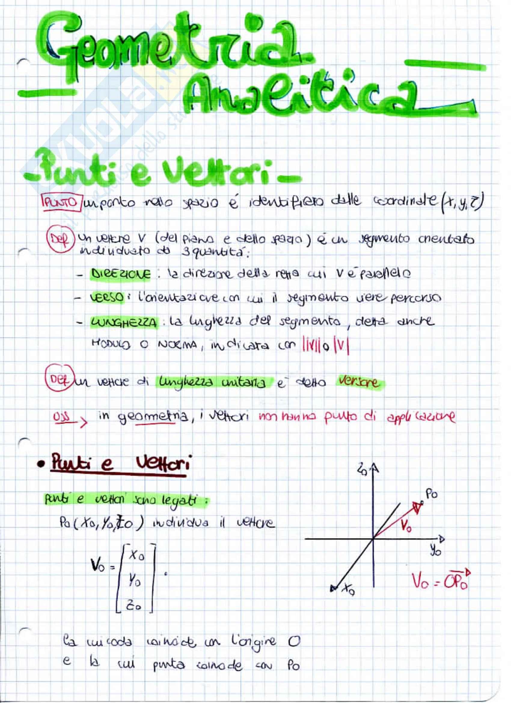 Lezioni seconda parte: Appunti di Analisi e Geometria I