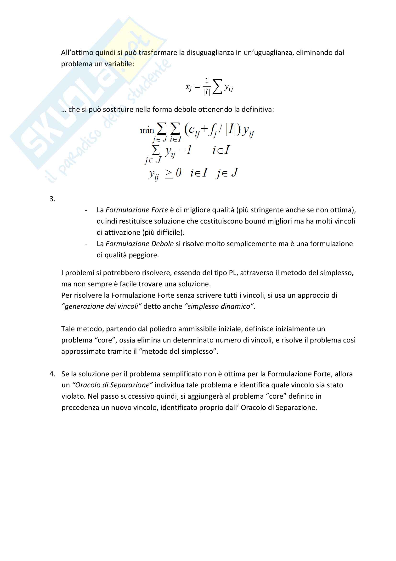 Appunti Ottimizzazione Combinatoria Gestionale, Sapienza Pag. 26