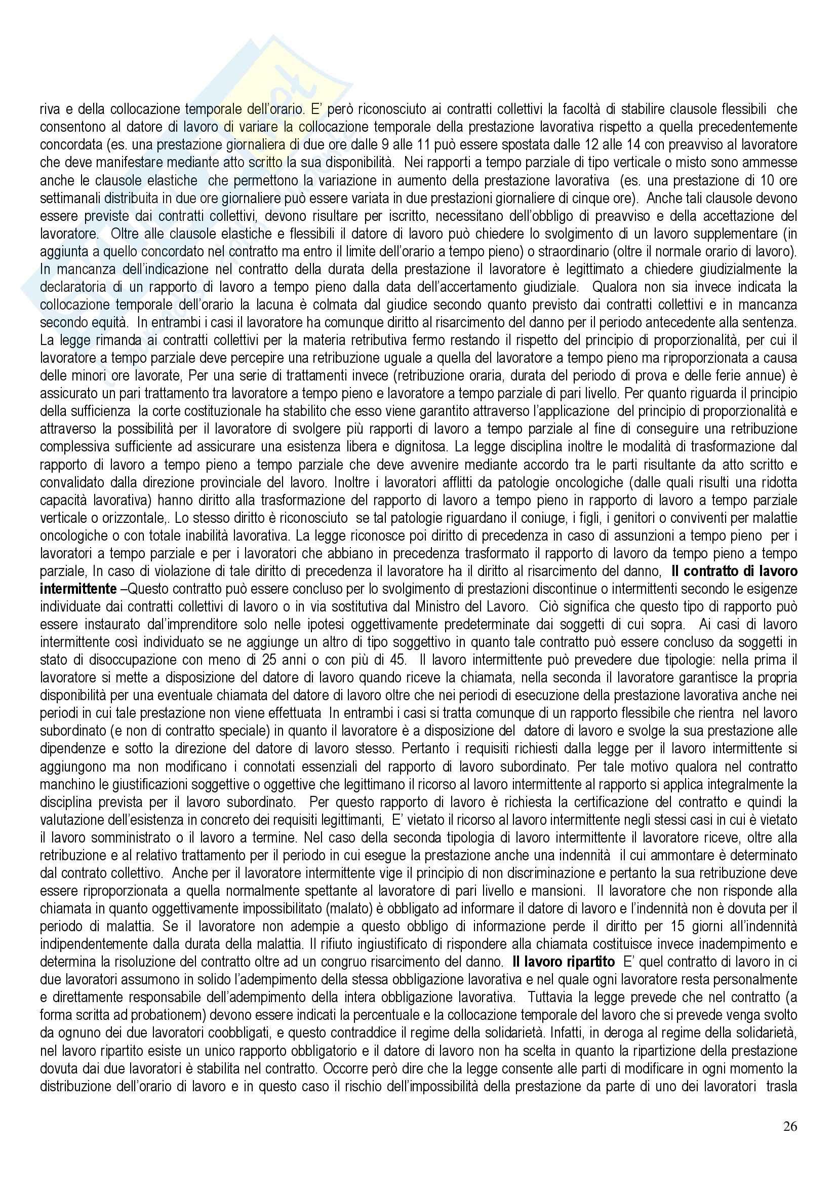 Riassunto esame Diritto del Lavoro, prof. Santoro-Passarelli, libro consigliato Diritto dei Lavori, Santoro Passarelli Pag. 26