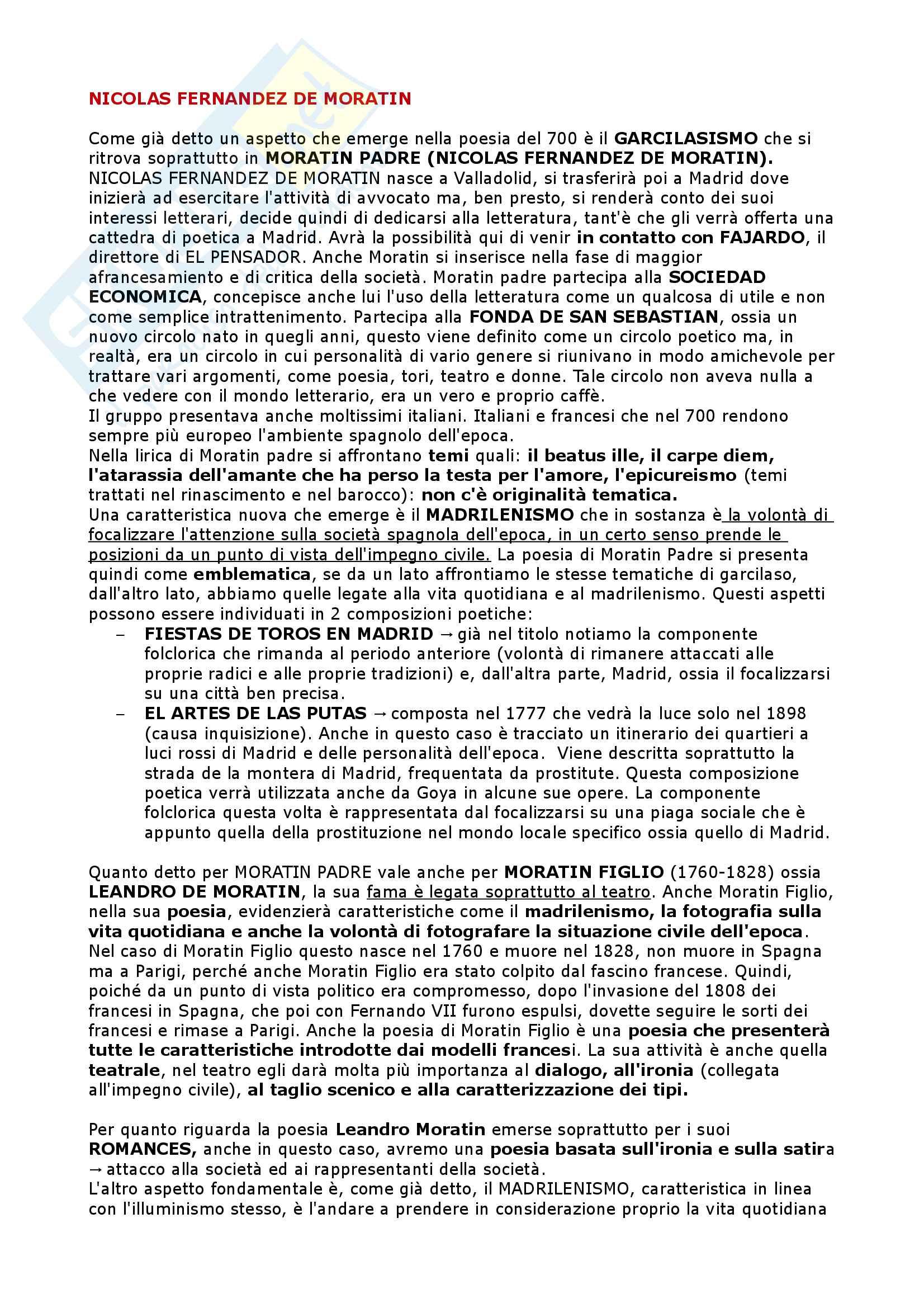 Il Settecento, l'Ottocento, il Novecento - Letteratura Spagnola II Pag. 11