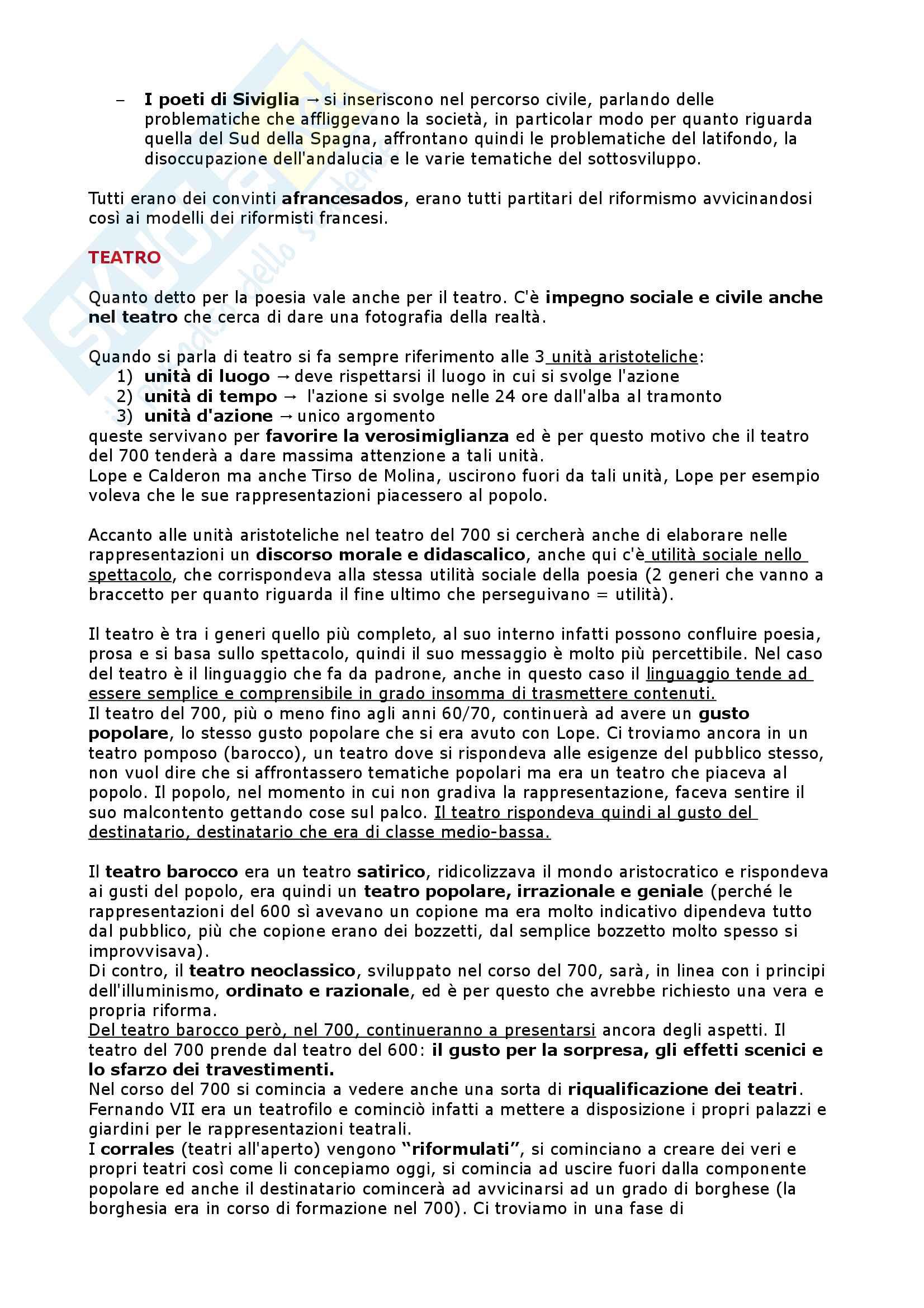 Il Settecento, l'Ottocento, il Novecento - Letteratura Spagnola II Pag. 16