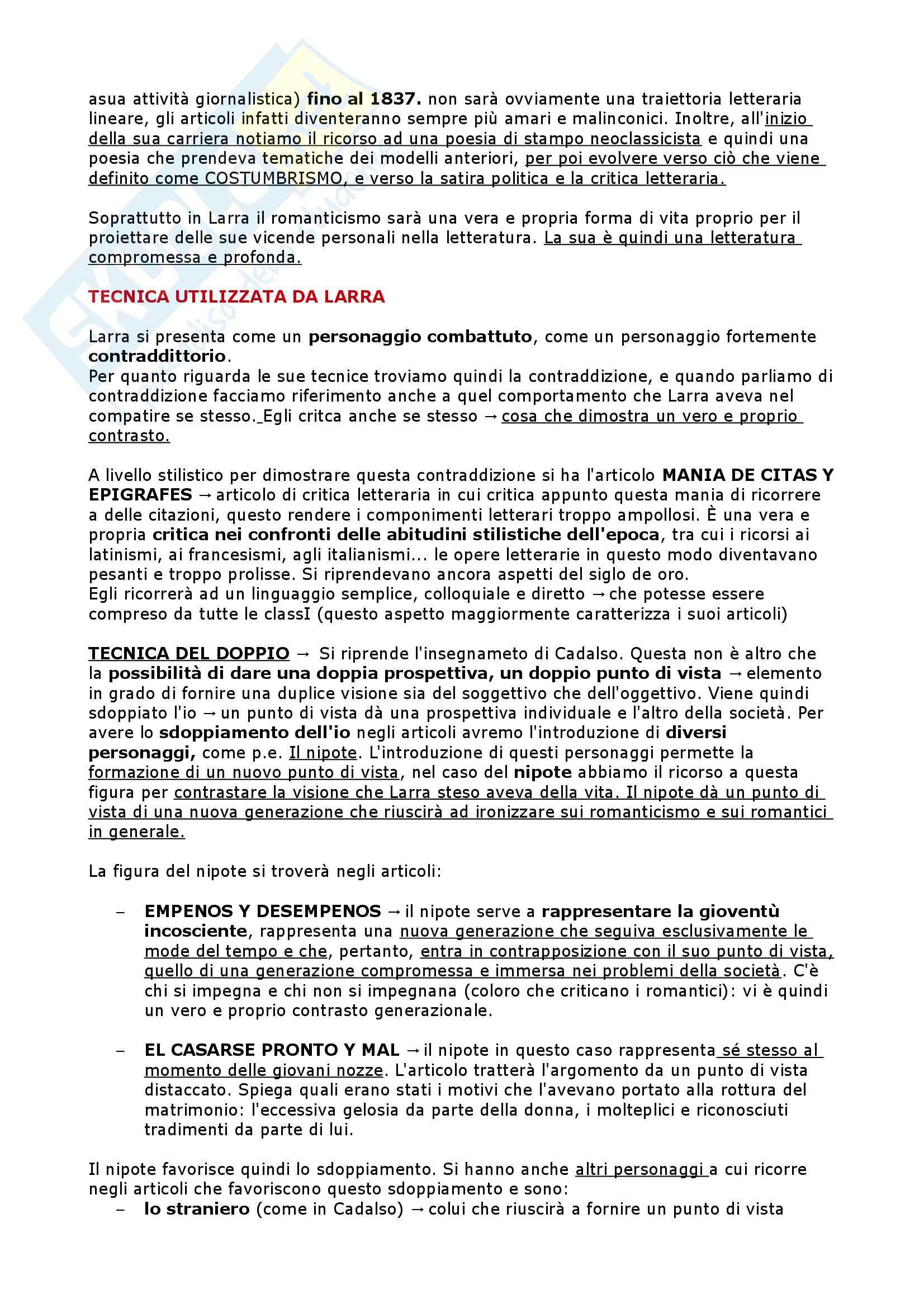 Il Settecento, l'Ottocento, il Novecento - Letteratura Spagnola II Pag. 46