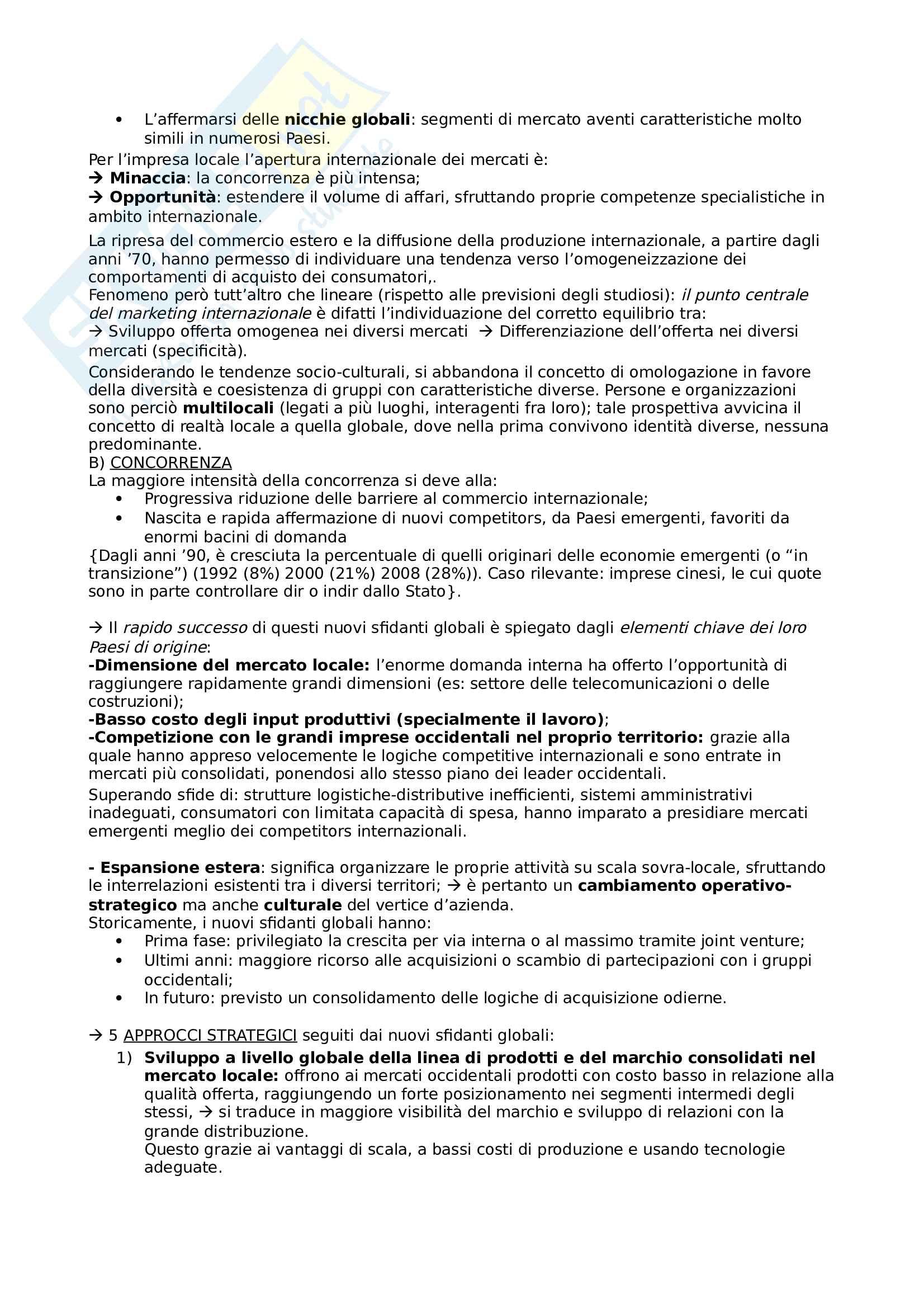 Gestione delle imprese internazionali Pag. 2