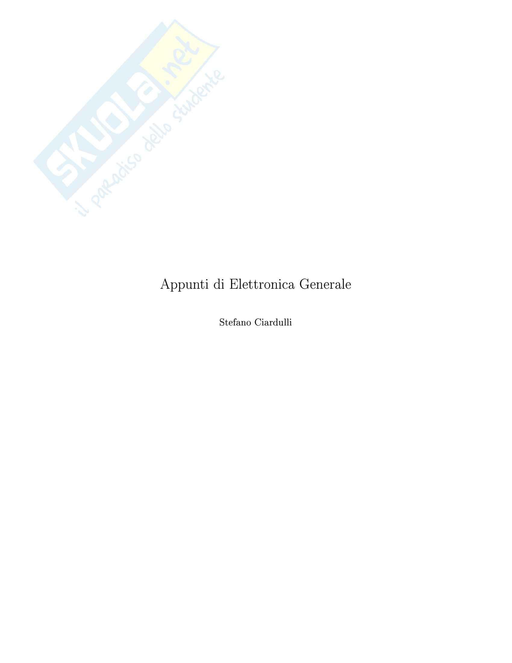 Elementi di elettronica, Diodi