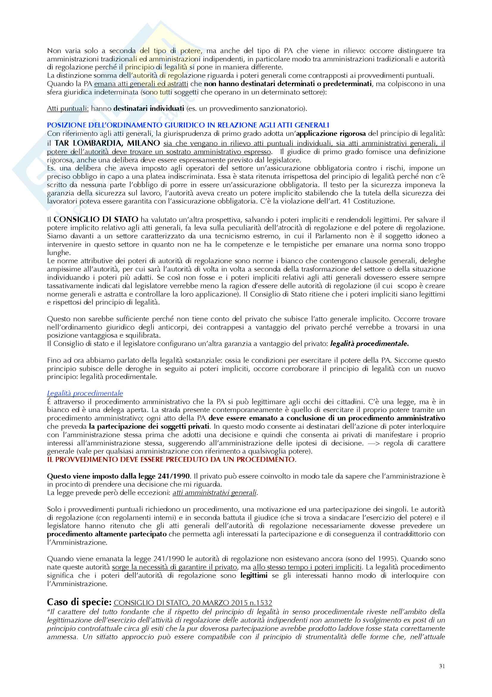 Appunti diritto amministrativo prof Ramajoli Pag. 31