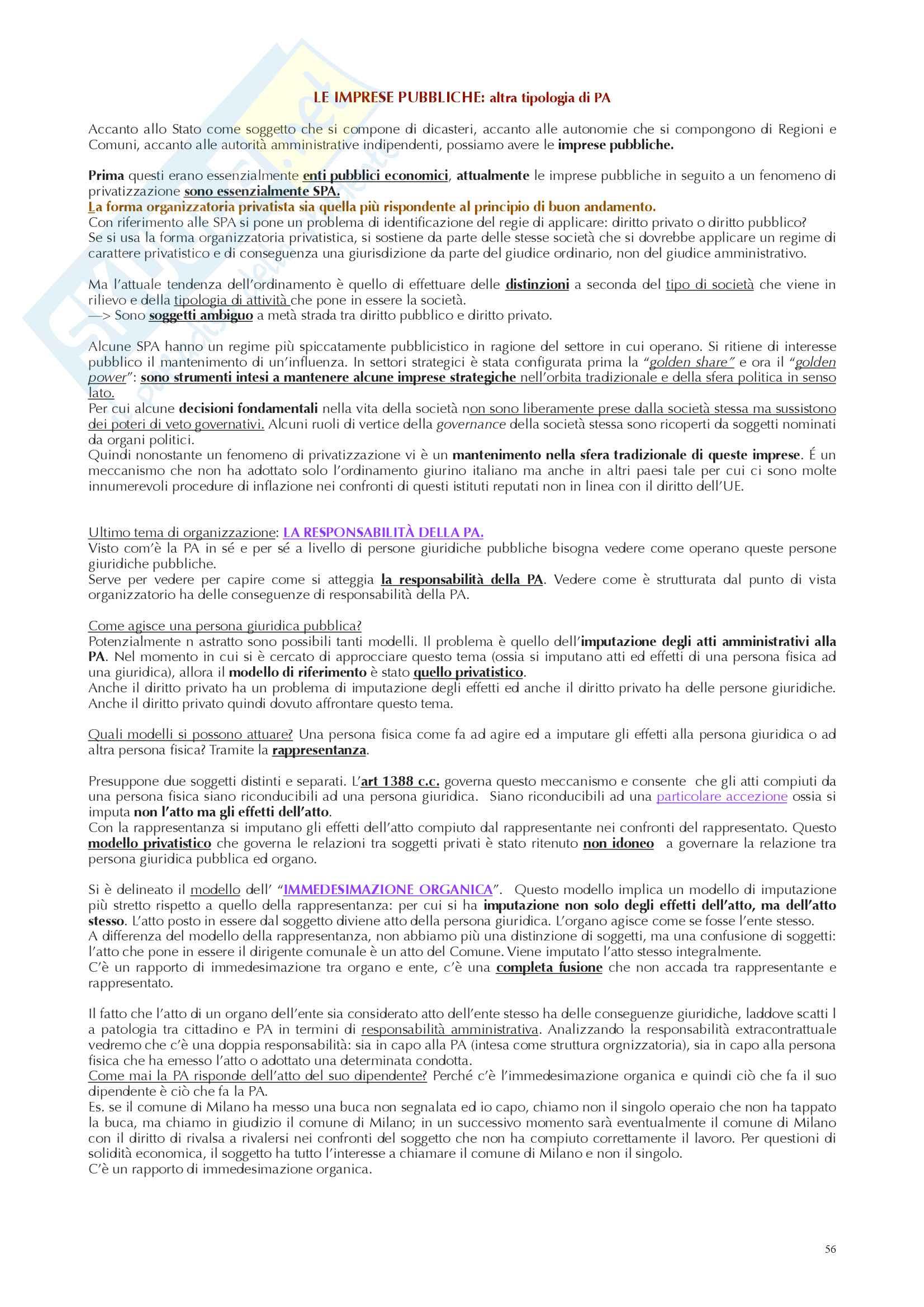 Appunti diritto amministrativo prof Ramajoli Pag. 56