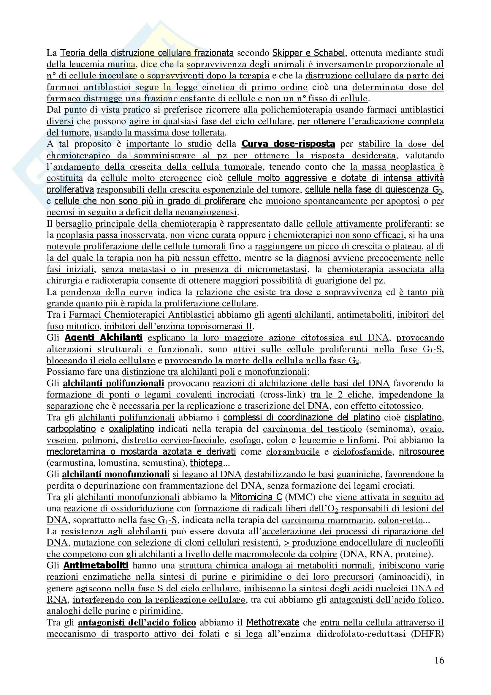 Oncologia Clinica - Dispensa Oncologia Medica-Clinica Pag. 16