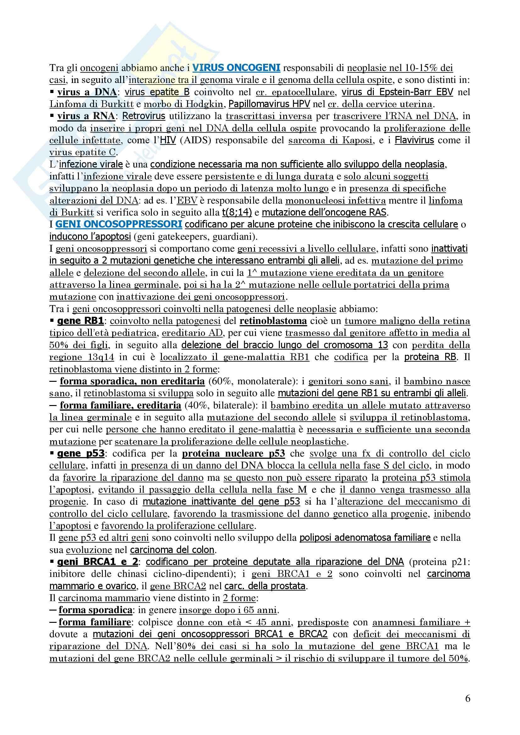 Oncologia Clinica - Dispensa Oncologia Medica-Clinica Pag. 6