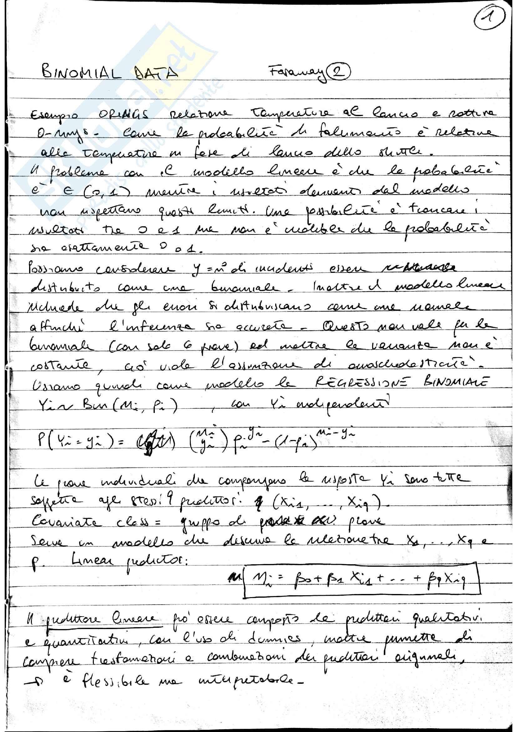 Appunti econometria applicata, prof Trovato