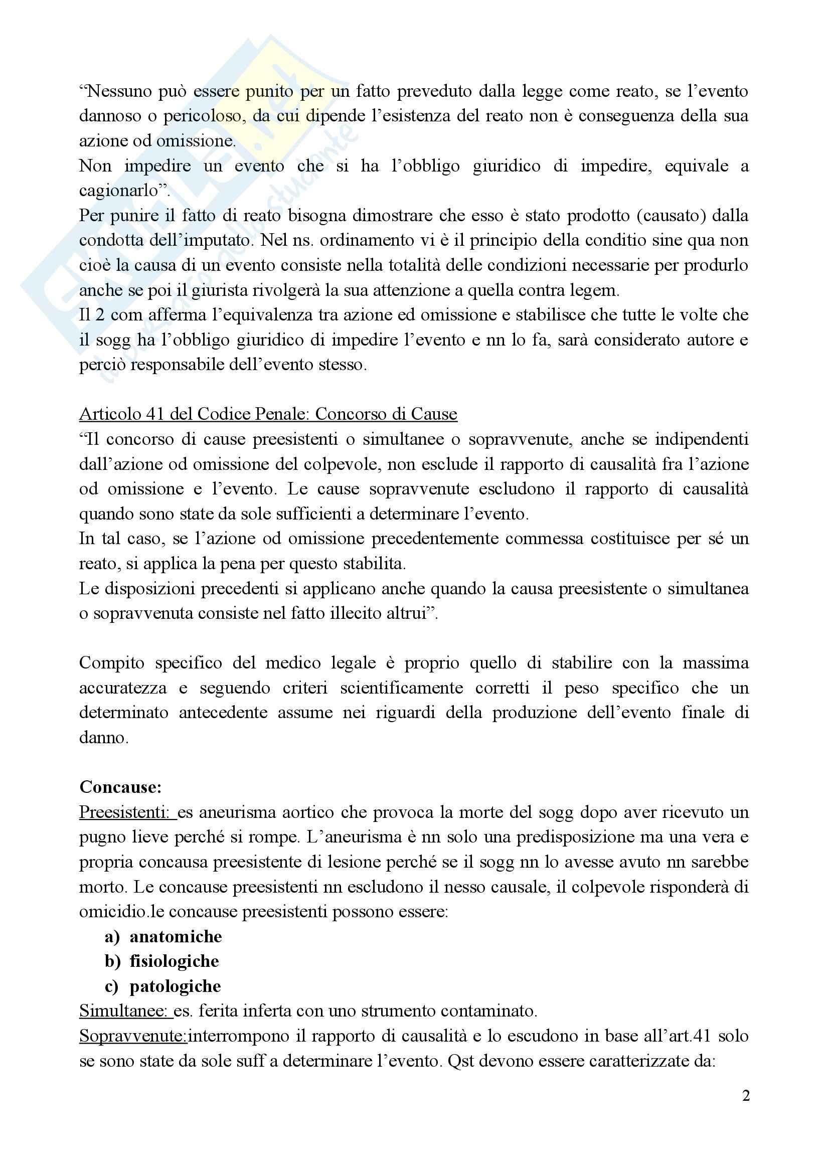 Medicina legale e delle Assicurazioni - il metodo med-legale Pag. 2