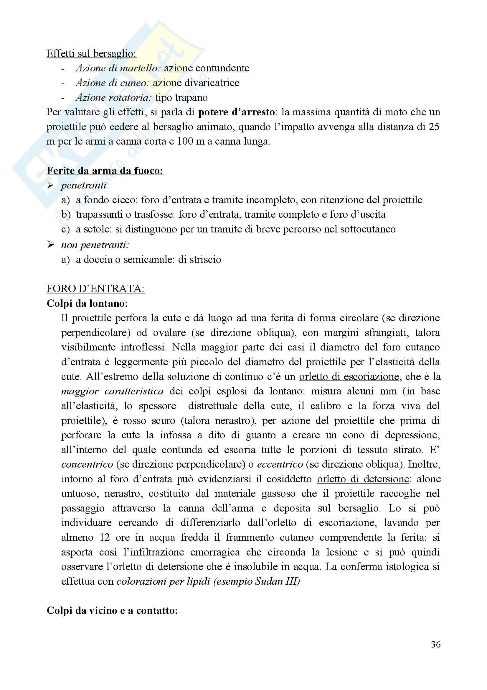 Medicina legale e delle Assicurazioni - il metodo med-legale Pag. 36