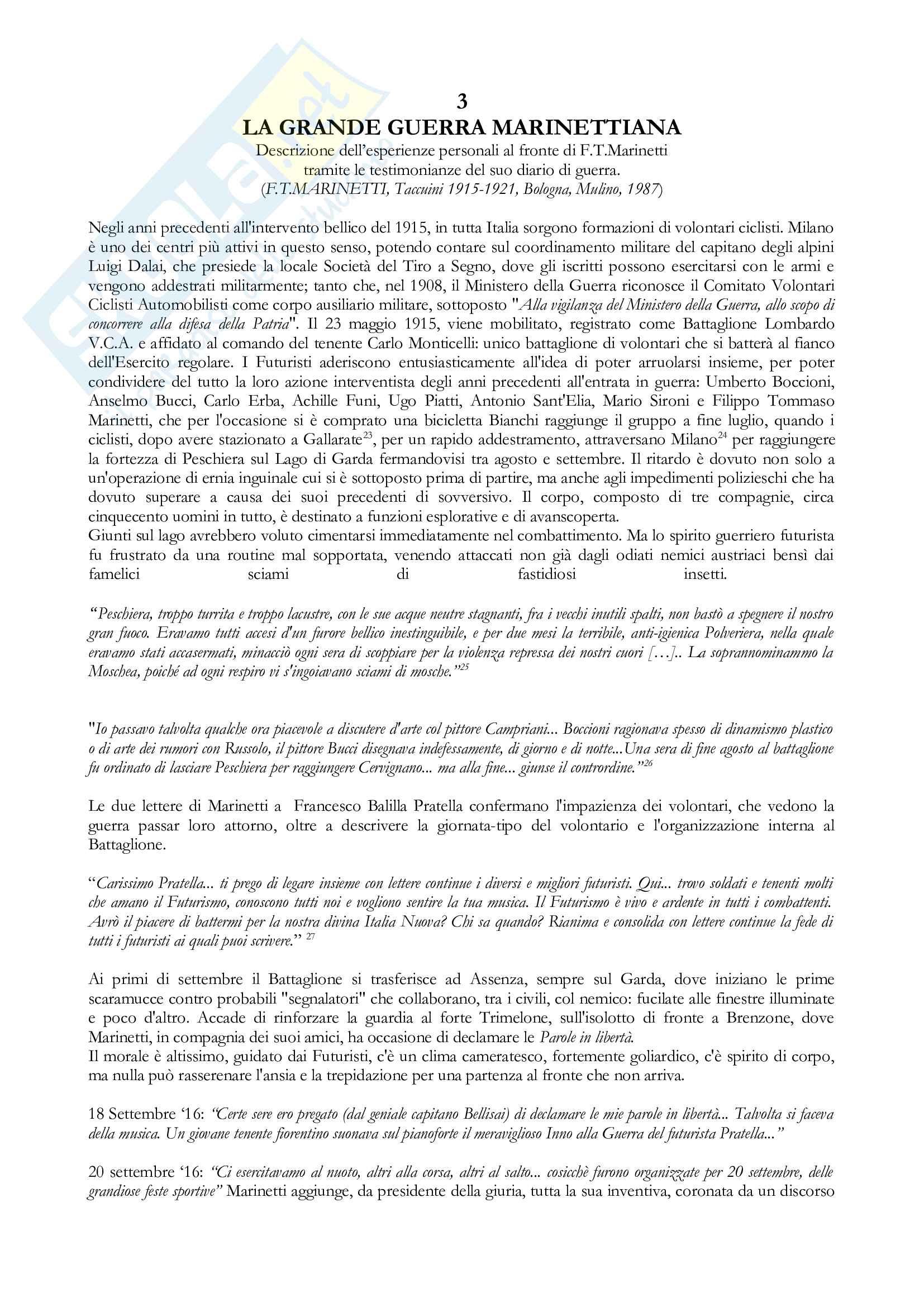 Tesi Futurismo e Filippo Tommaso Marinetti Pag. 16