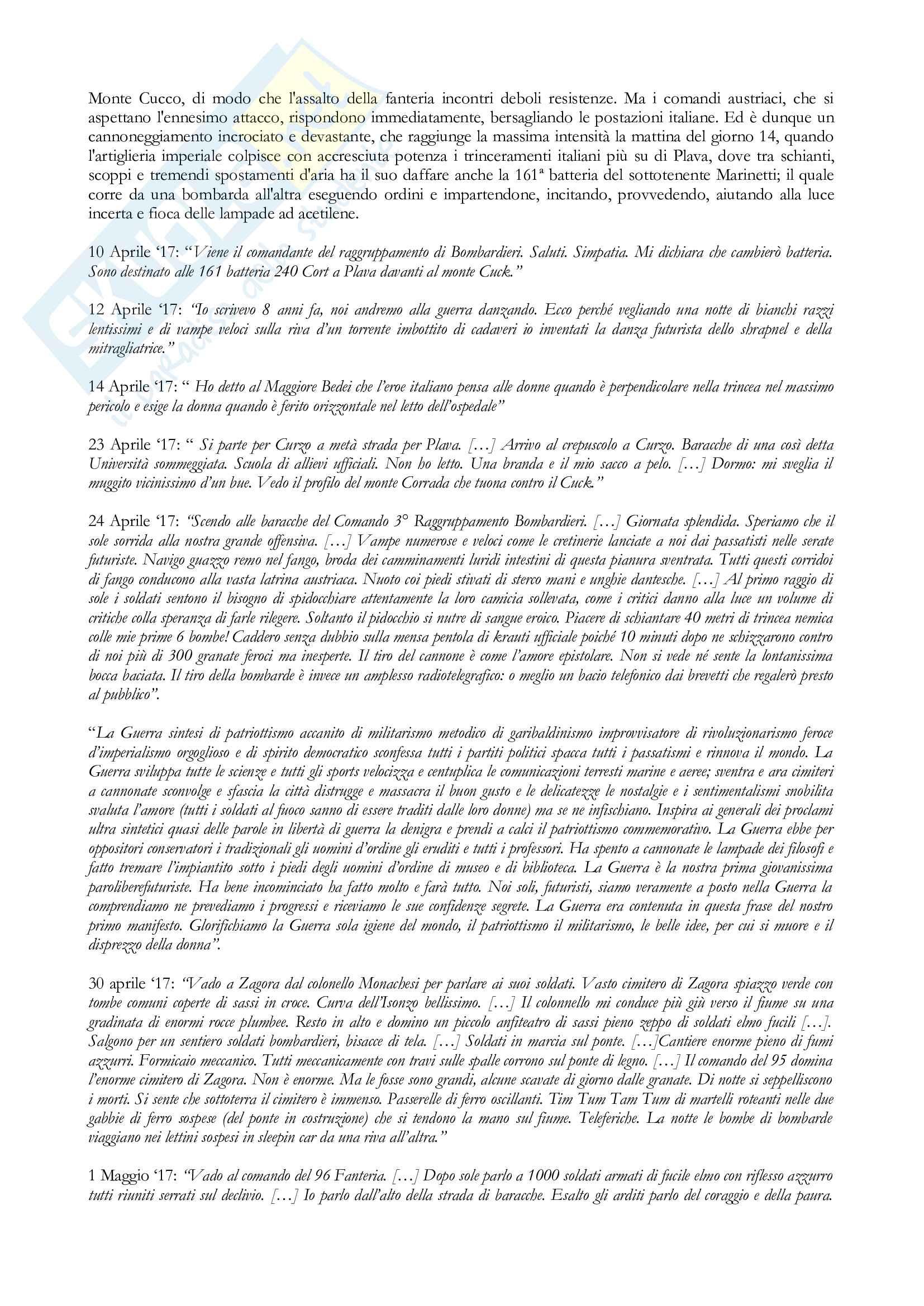 Tesi Futurismo e Filippo Tommaso Marinetti Pag. 21