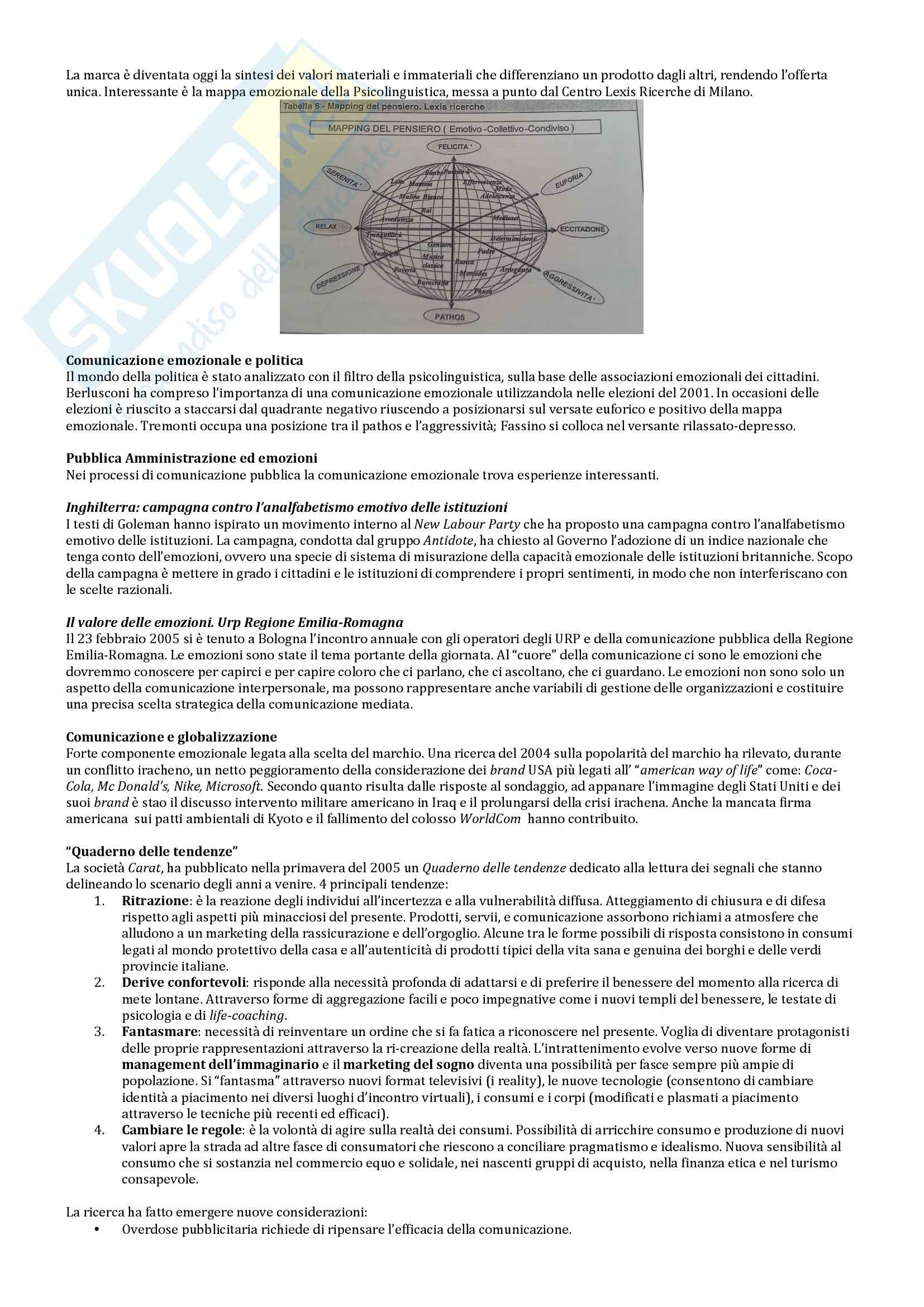 Riassunto esame Comunicazione d'impresa, prof. Colonelli, libro consigliato Comunicare l'impresa, Ferrari Pag. 2