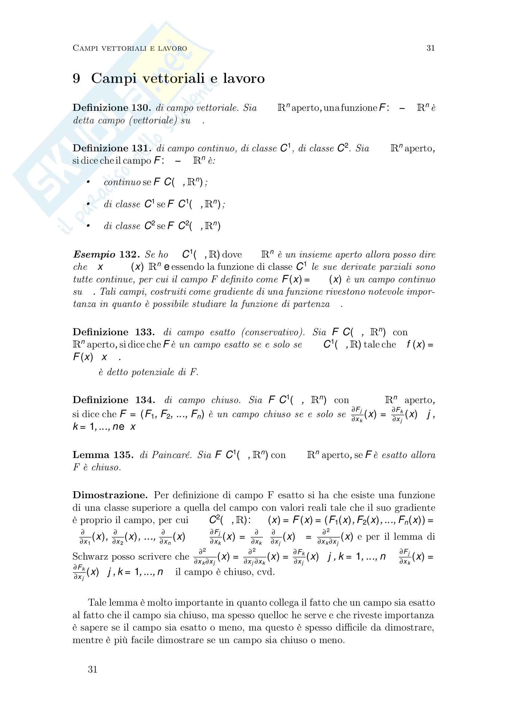 Lezioni e esercizi, Analisi matematica TB Pag. 31