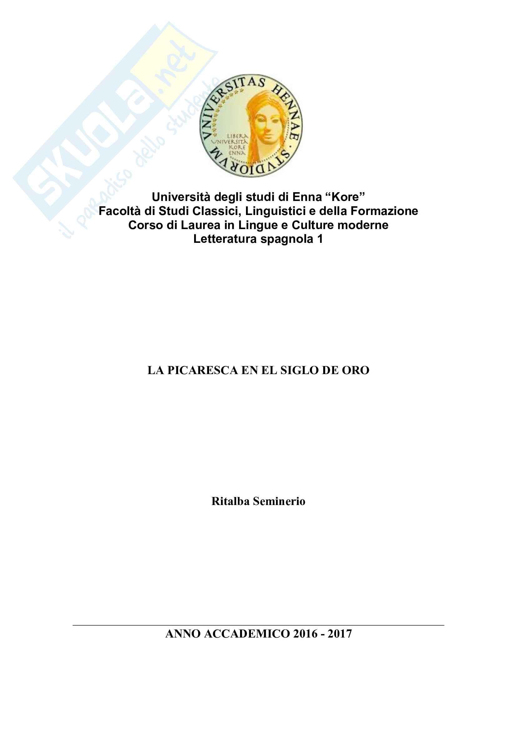 Mini tesi di letteratura spagnola