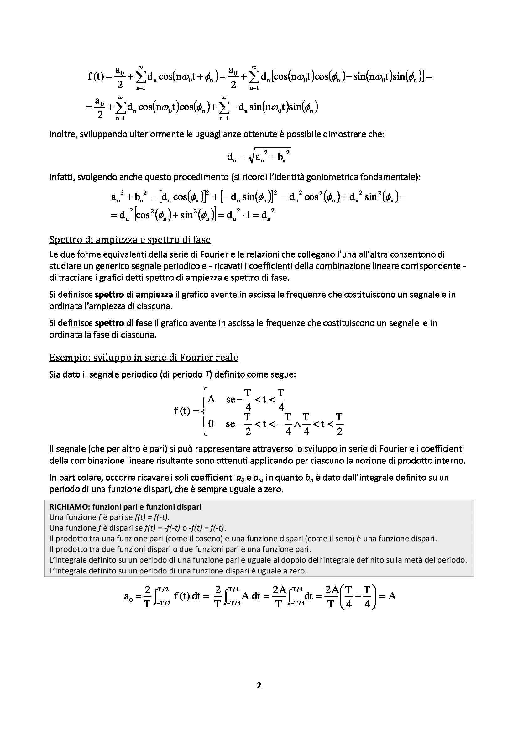 Elaborazione numerica dei segnali - Appunti Pag. 2