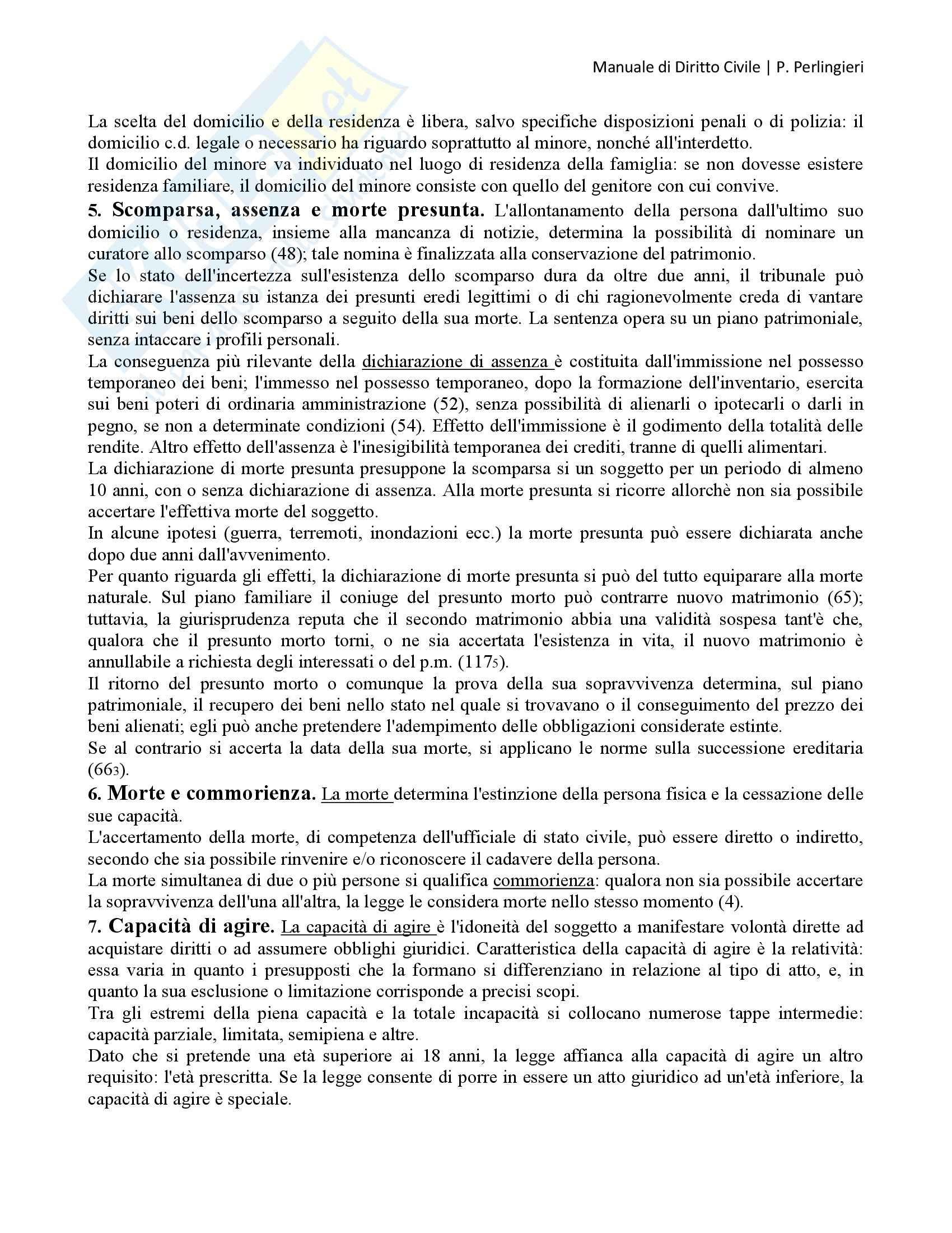 Manuale di Diritto Civile, Perlingieri - Persone fisiche e persone giuridiche Pag. 2