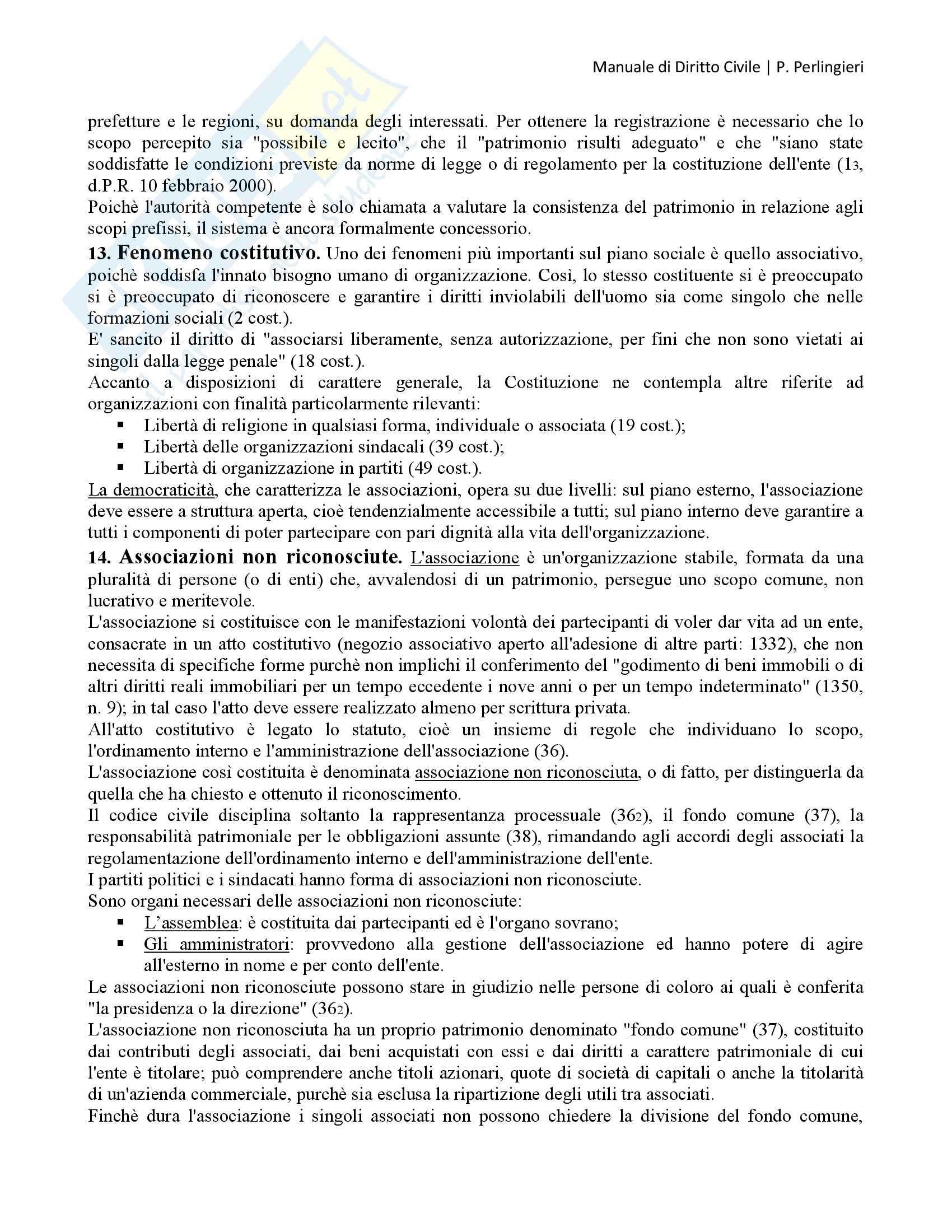 Manuale di Diritto Civile, Perlingieri - Persone fisiche e persone giuridiche Pag. 6