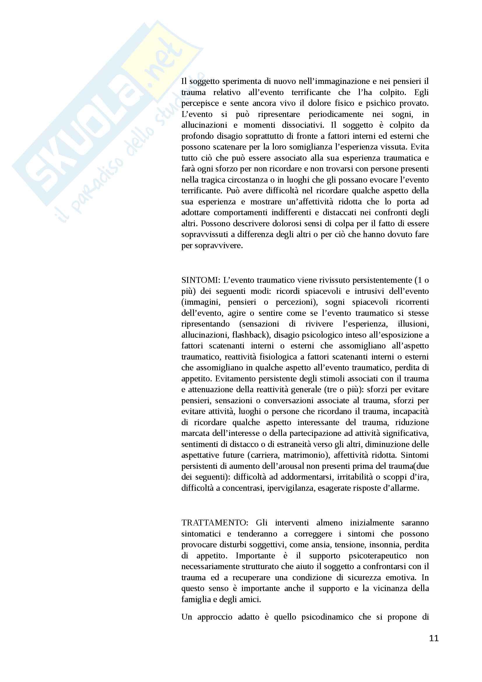 Terza Prova esame di stato psicologia DSM IV TR ADULTI Tabella Pag. 11