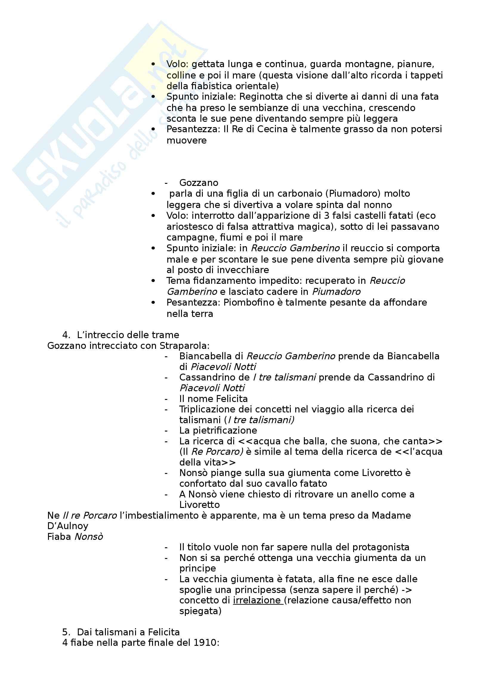 Riassunto esame letteratura italiana, prof. Masoero, libro cosigliato I Tre Talismani, Gozzano Pag. 2