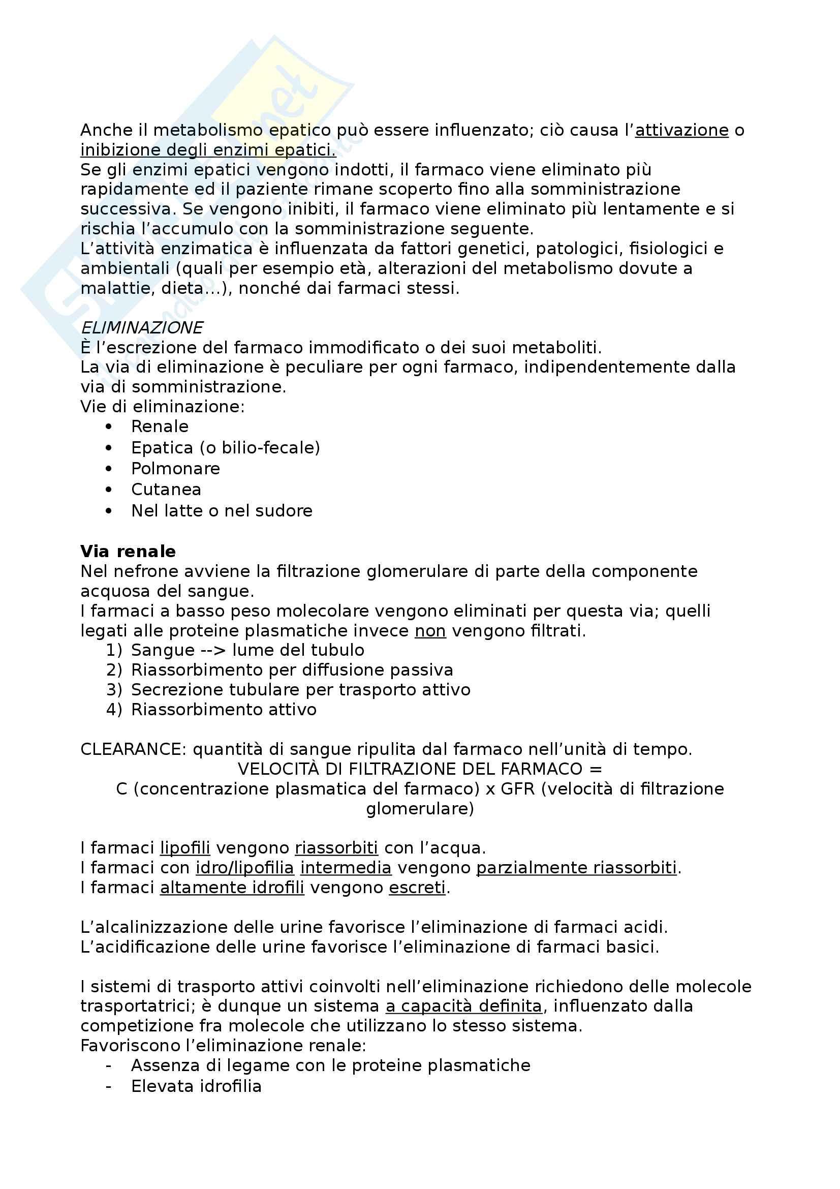 Nozioni base di Farmacologia Pag. 6