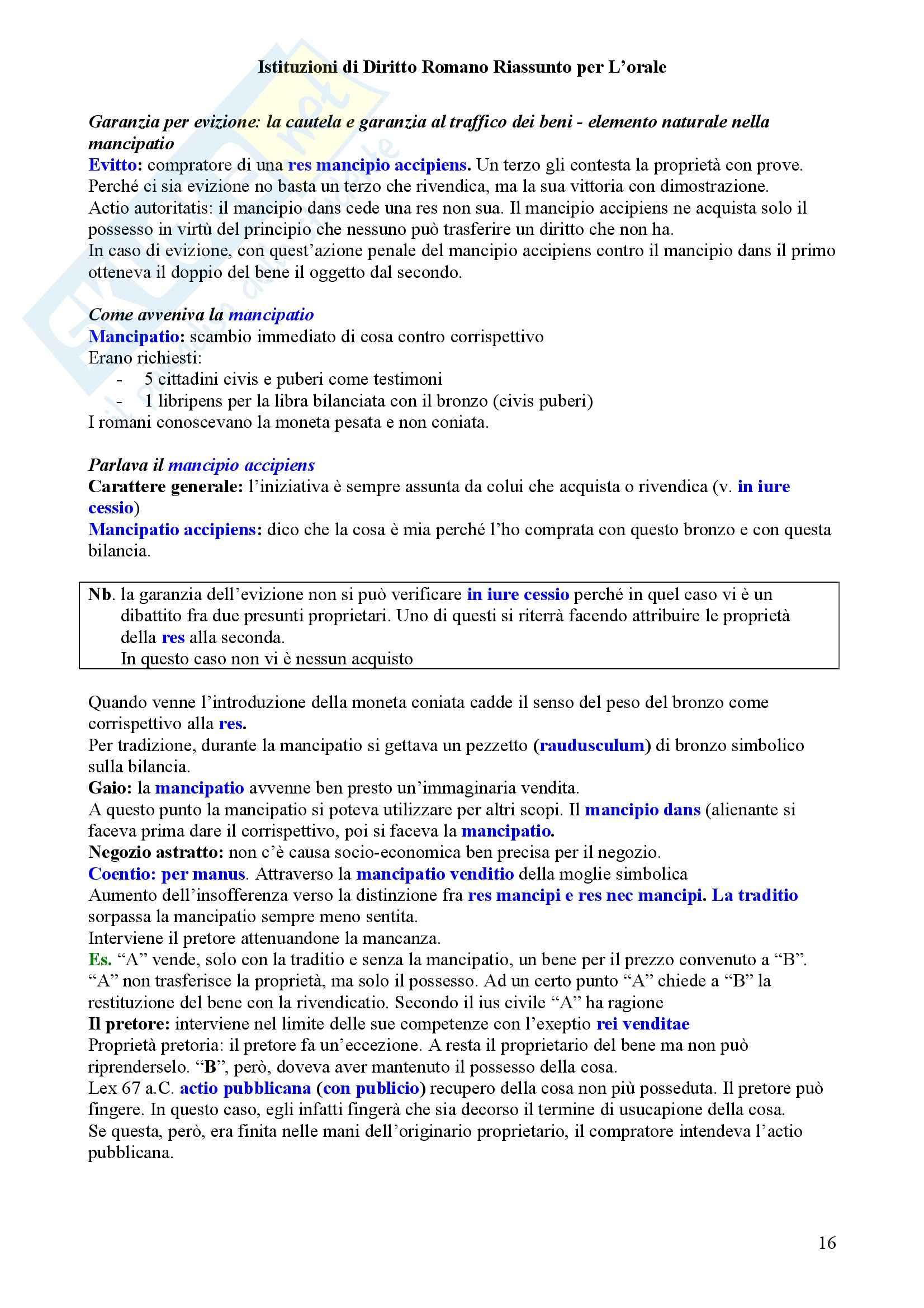 Diritto privato romano Pag. 16
