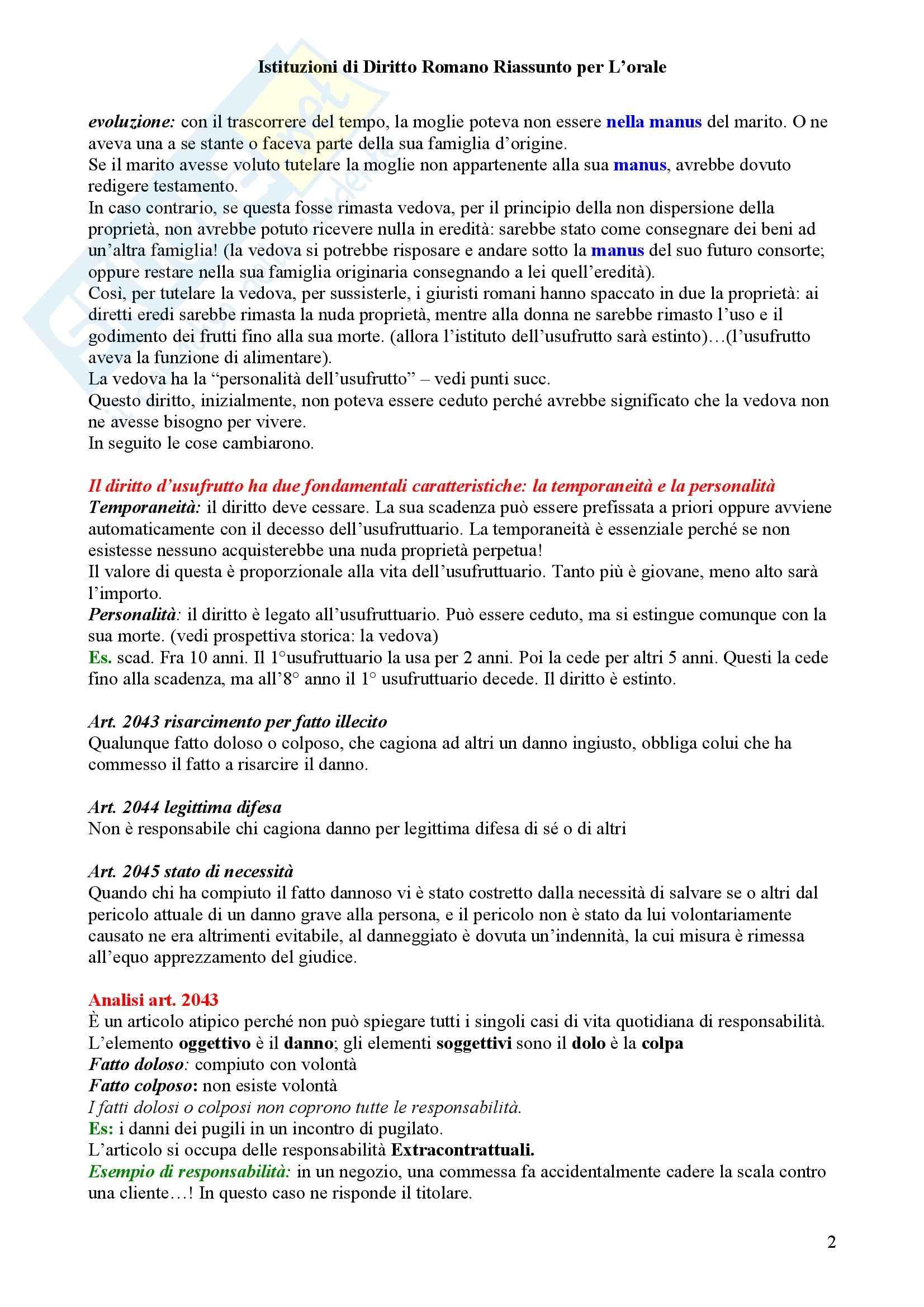 Diritto privato romano Pag. 2