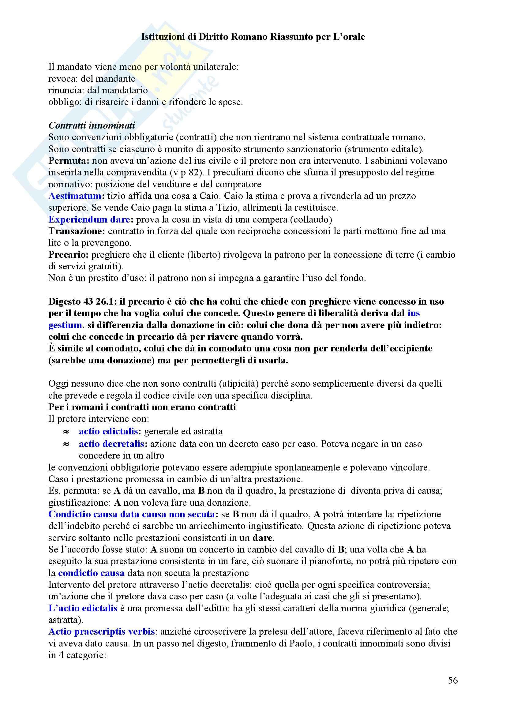 Diritto privato romano Pag. 56