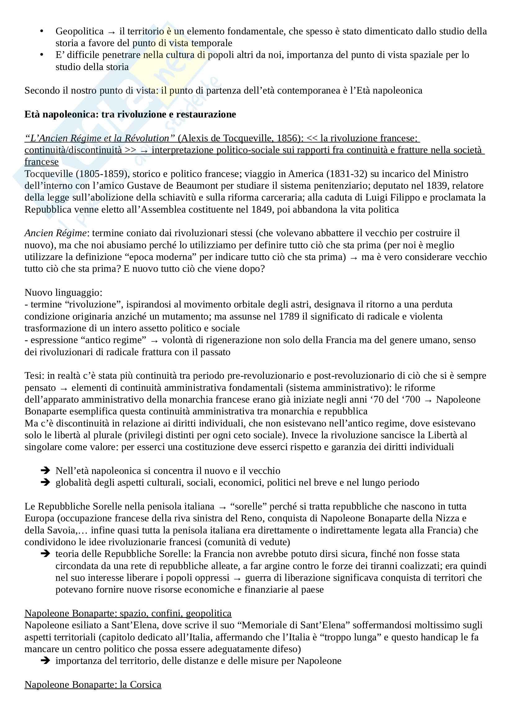 Storia contemporanea - Appunti lezioni Pag. 2