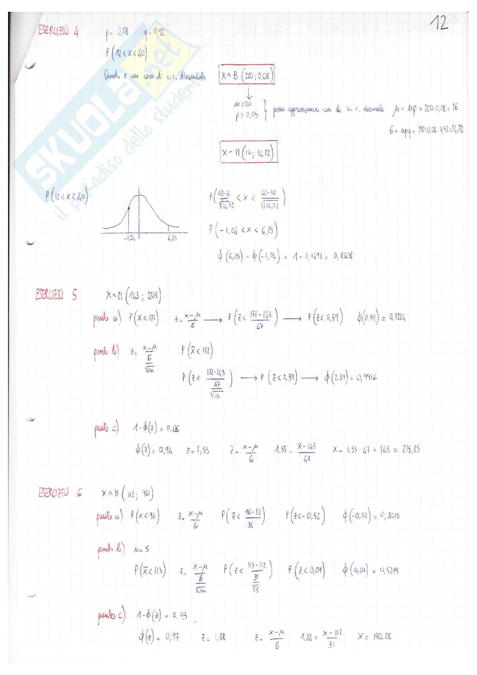 Esercizi e Appunti, Statistica Pag. 21