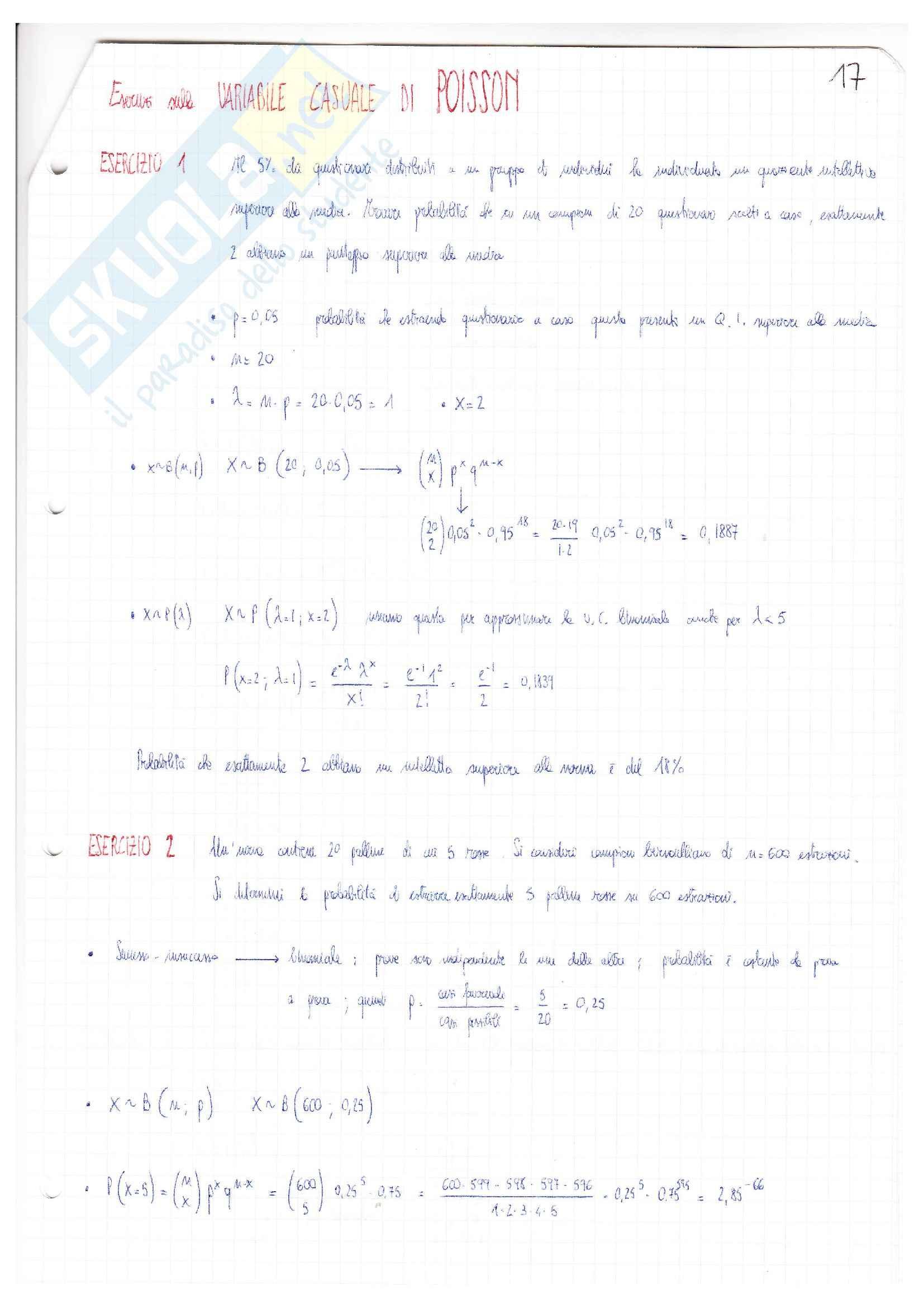 Esercizi e Appunti, Statistica Pag. 26
