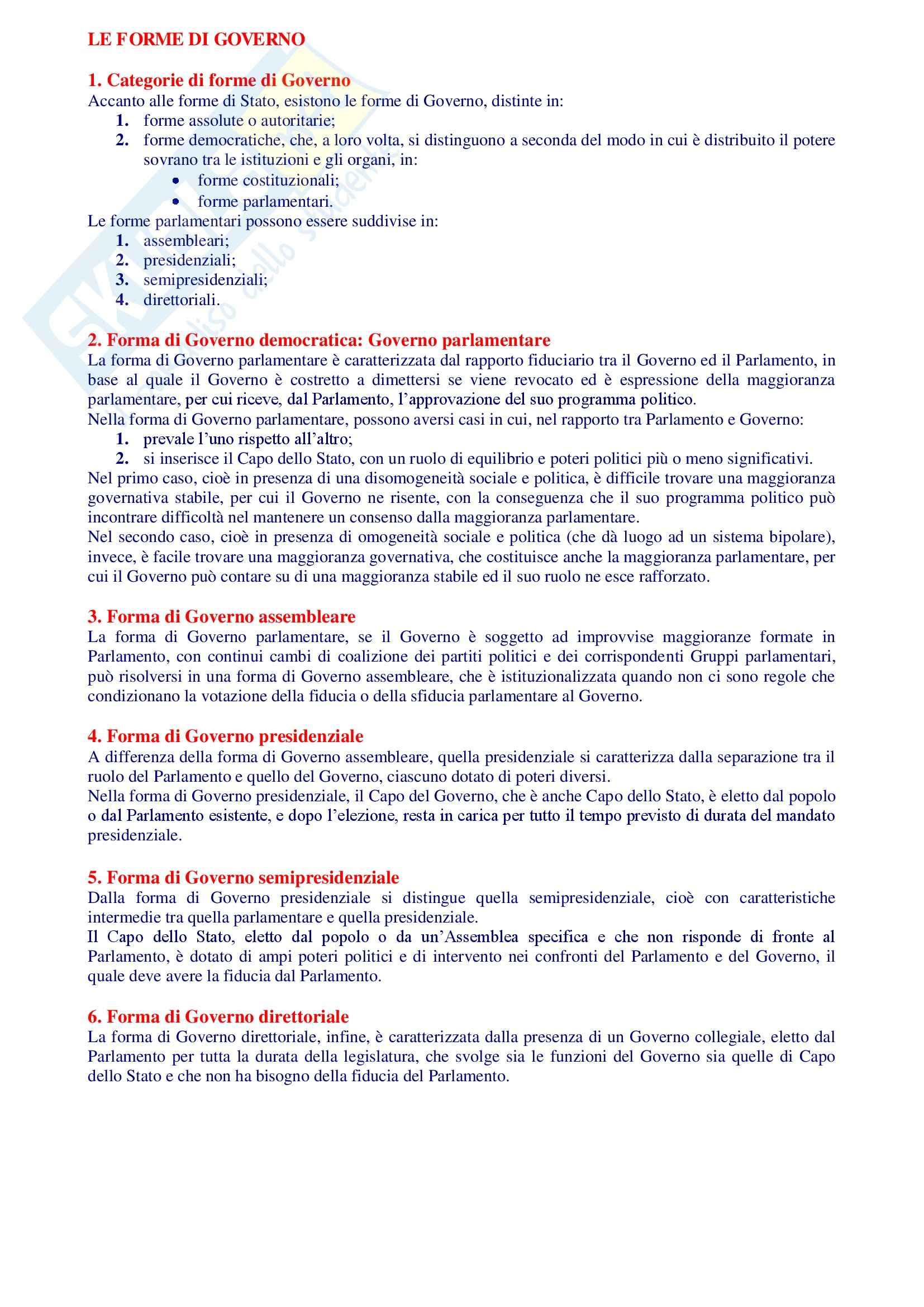 Riassunto esame Istituzioni di Diritto Pubblico, libro adottato Manuale di Diritto Pubblico, Rossano Pag. 46