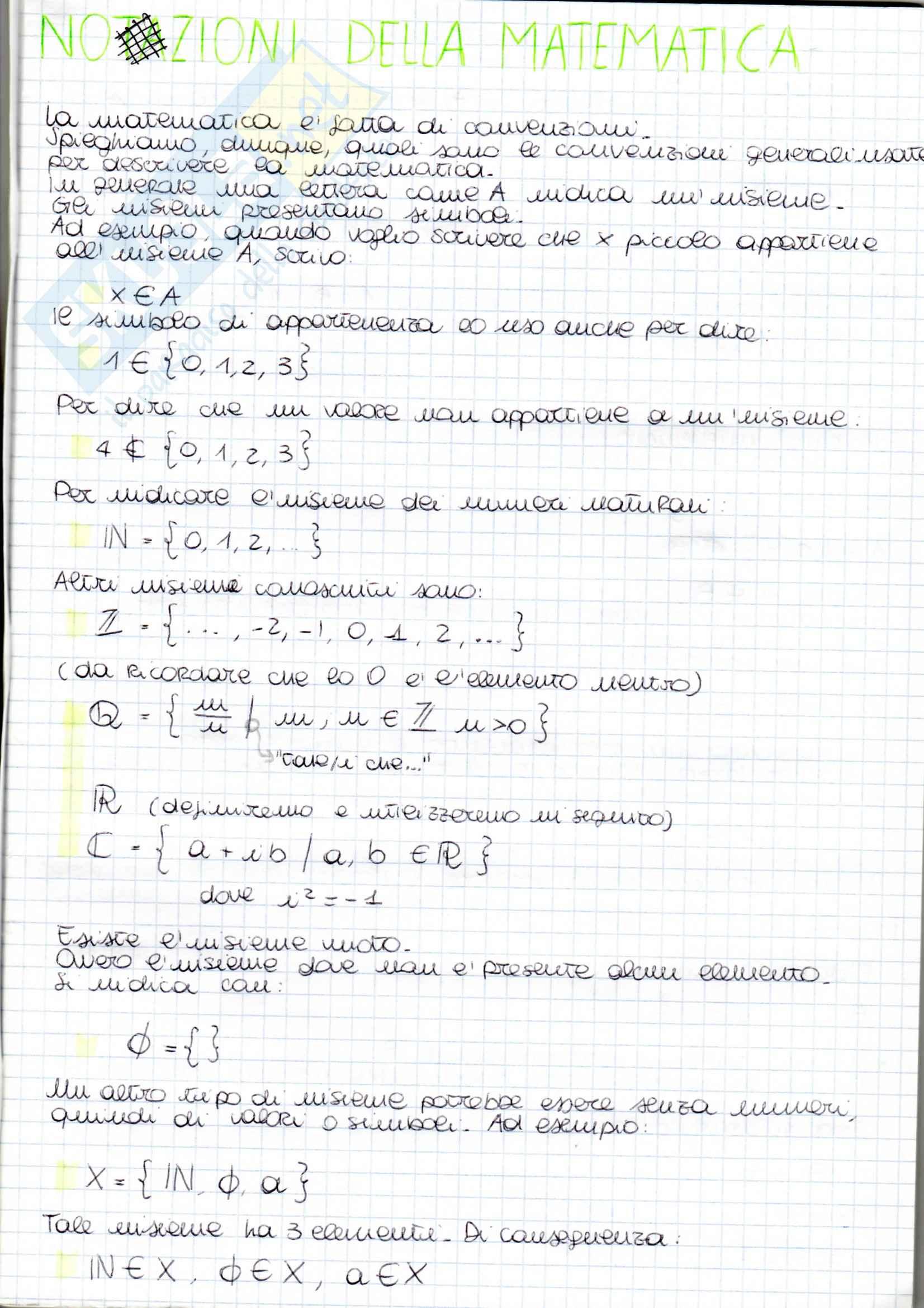 Matematica Discreta - Appunti parte 1