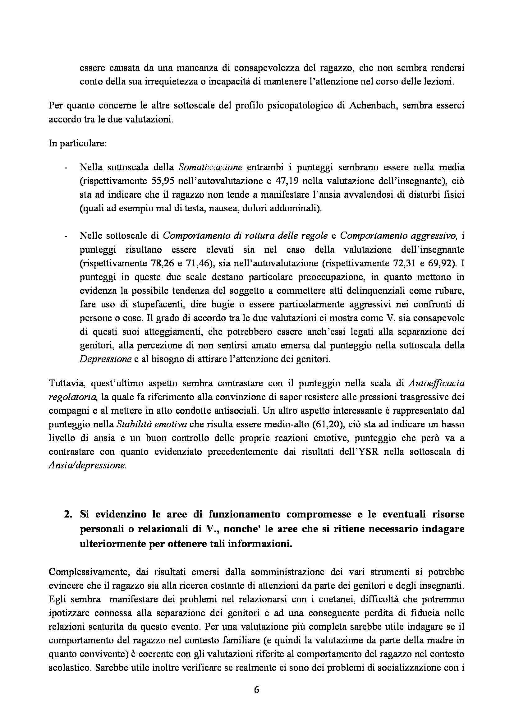 Personalità e Assessment - caso singolo di personalità e assessment Pag. 6