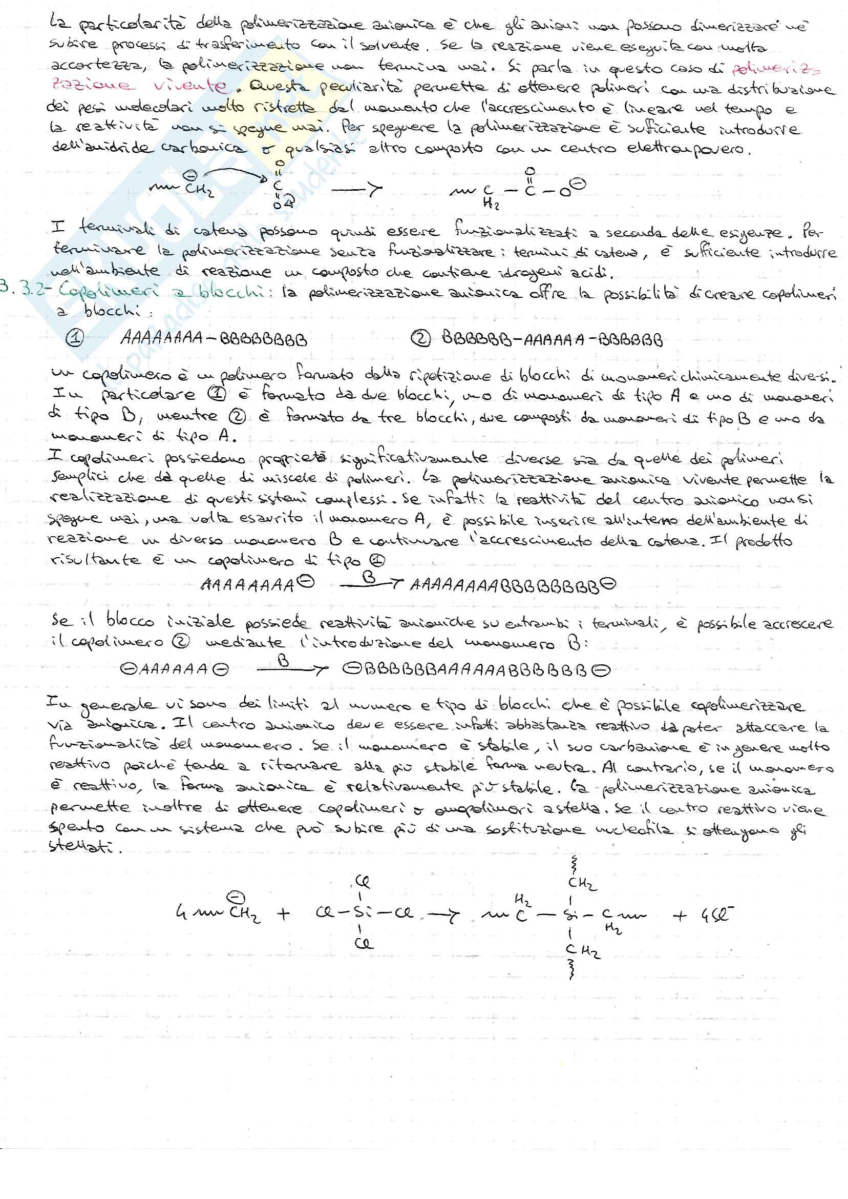 Chimica Macromolecolare Pag. 16